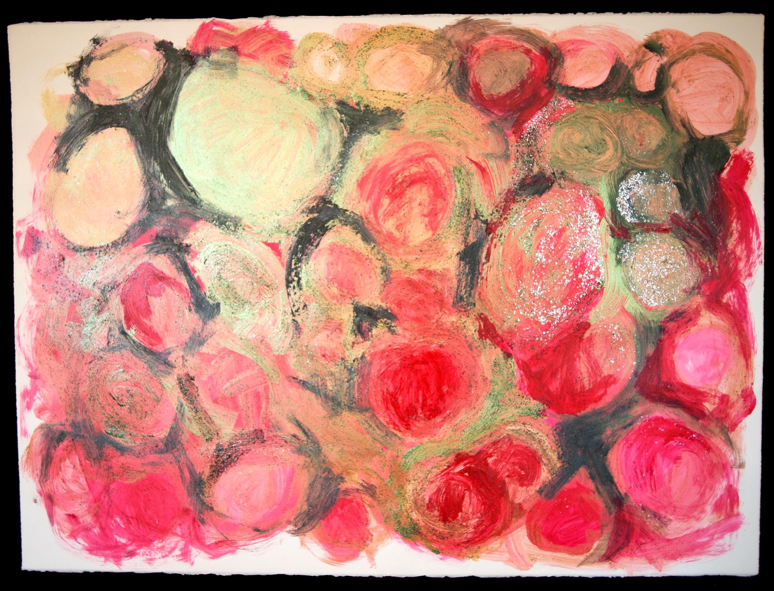 Mandala #19  acrylic on paper 22in x 30in