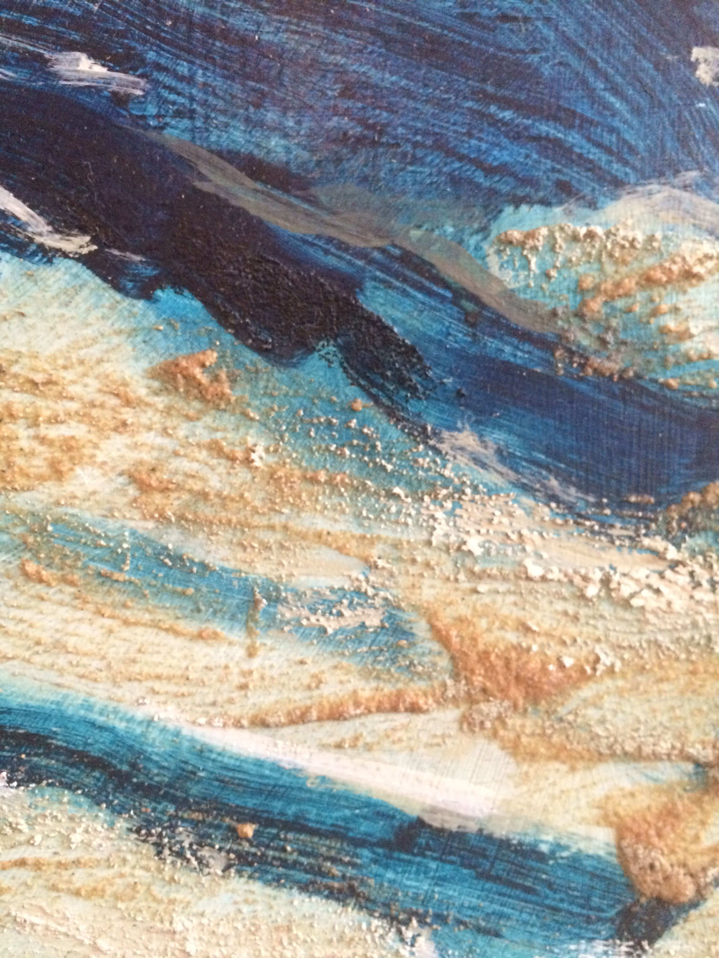 detail #1 from the Metamorphosis of the Ocean   mixed media on wood panel 48in x 48in