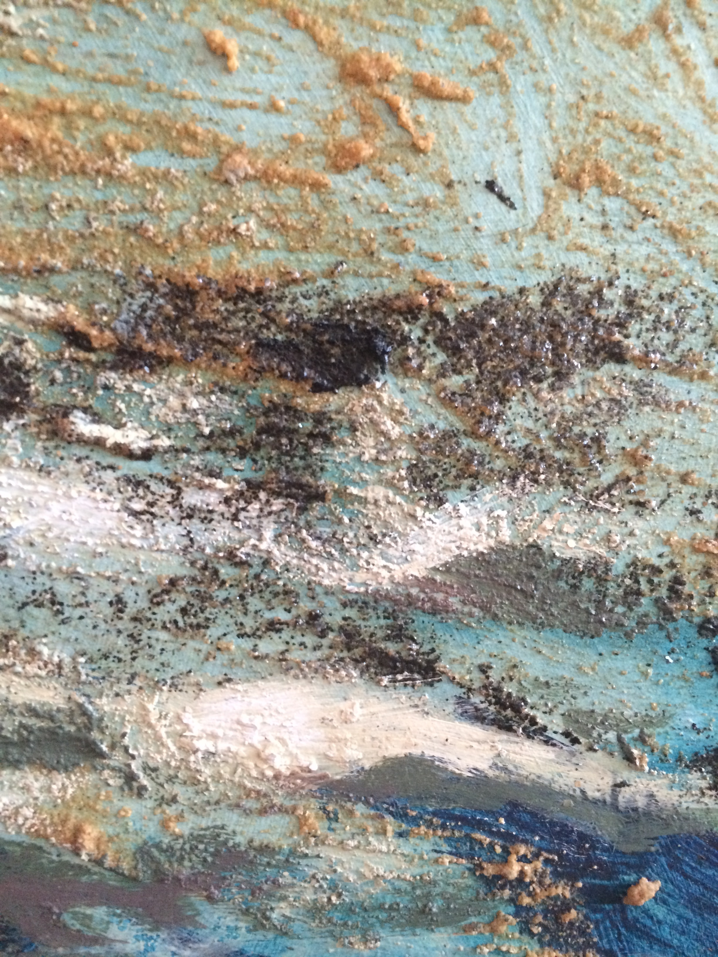 detail #2 from the Metamorphosis of the Ocean  mixed media on wood panel 48in x 48in