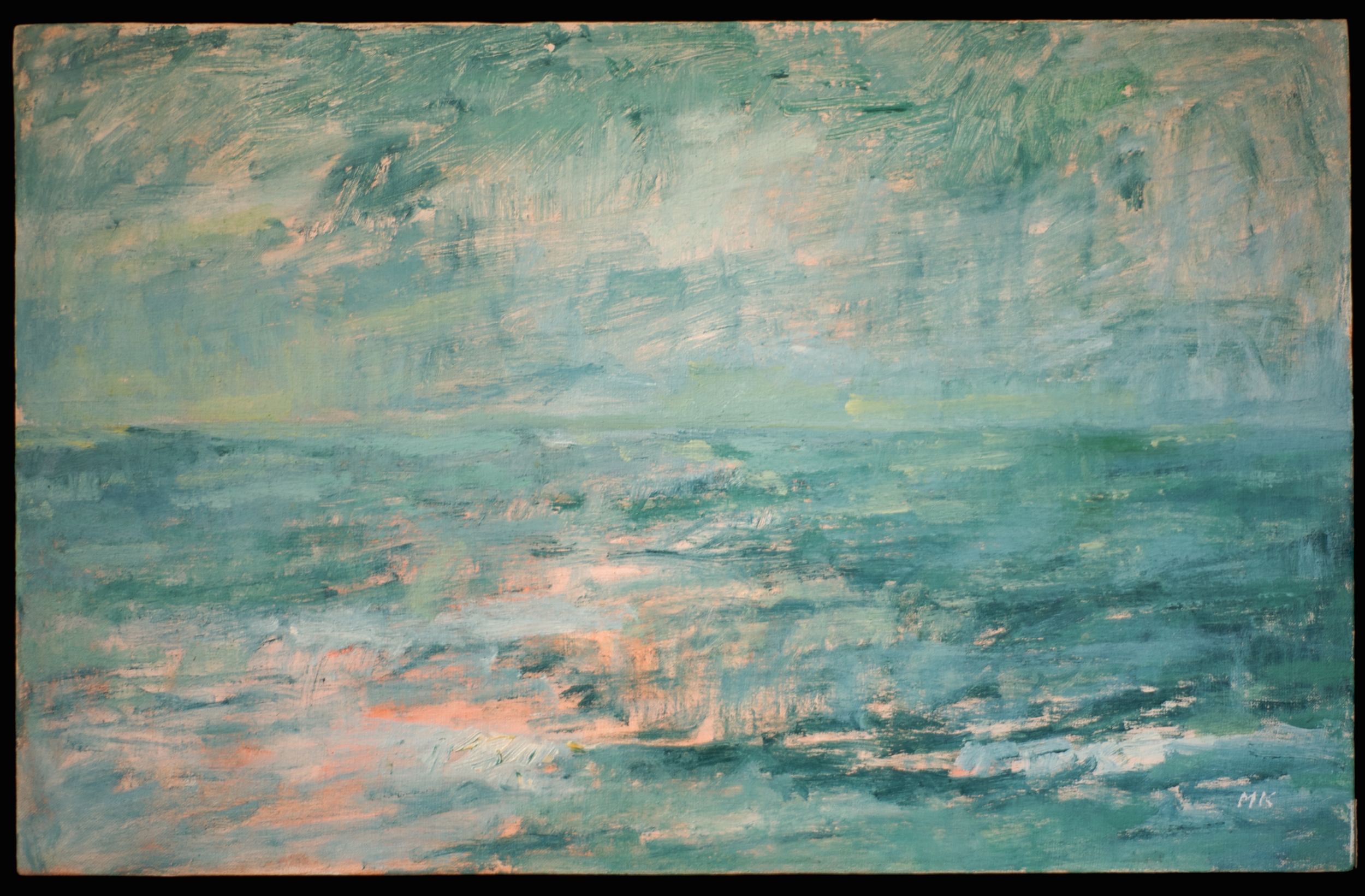 Seascape #2  oil on canvas 15in x 24in
