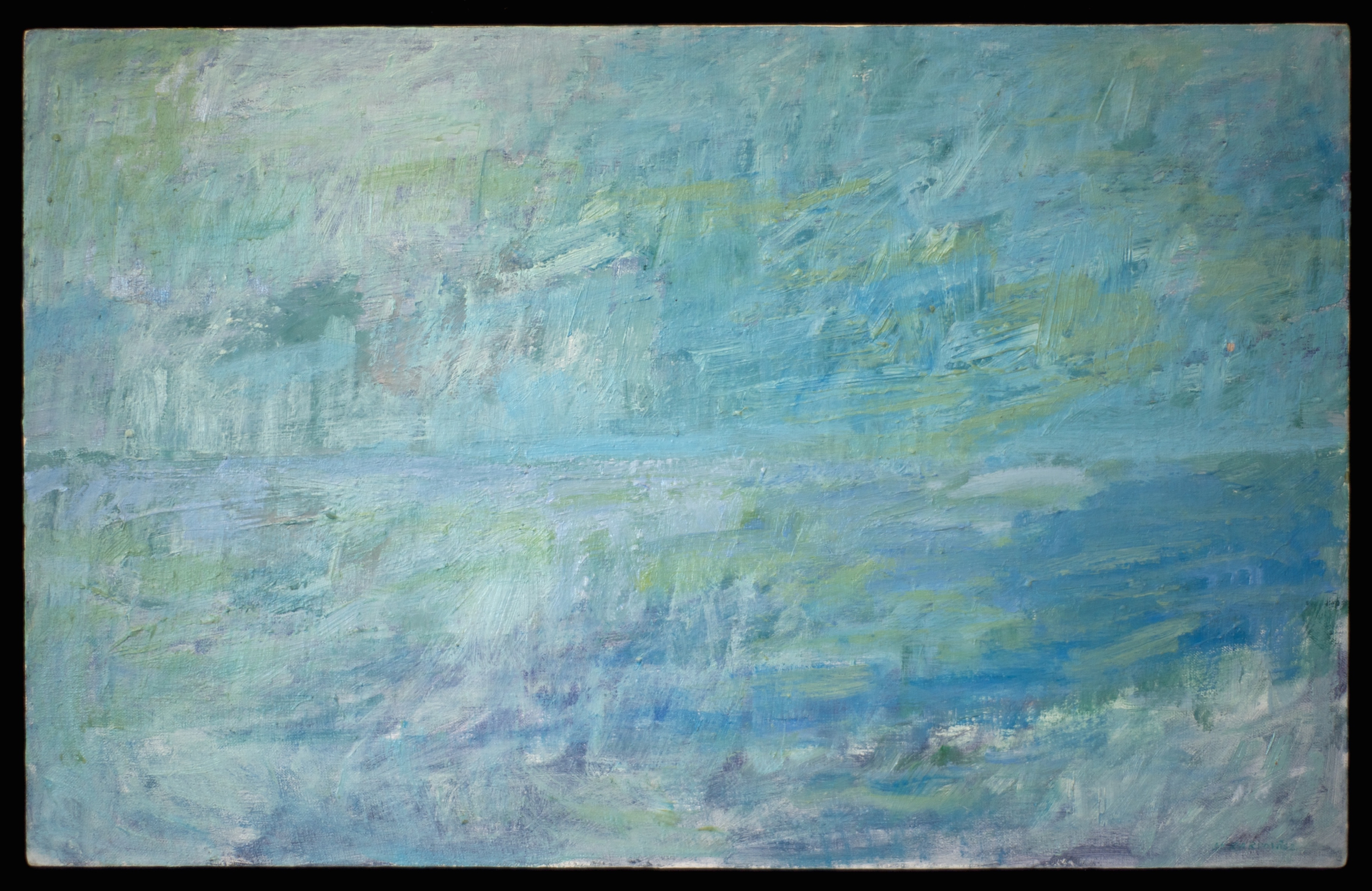 Seascape #3  oil on canvas 15in x 24in