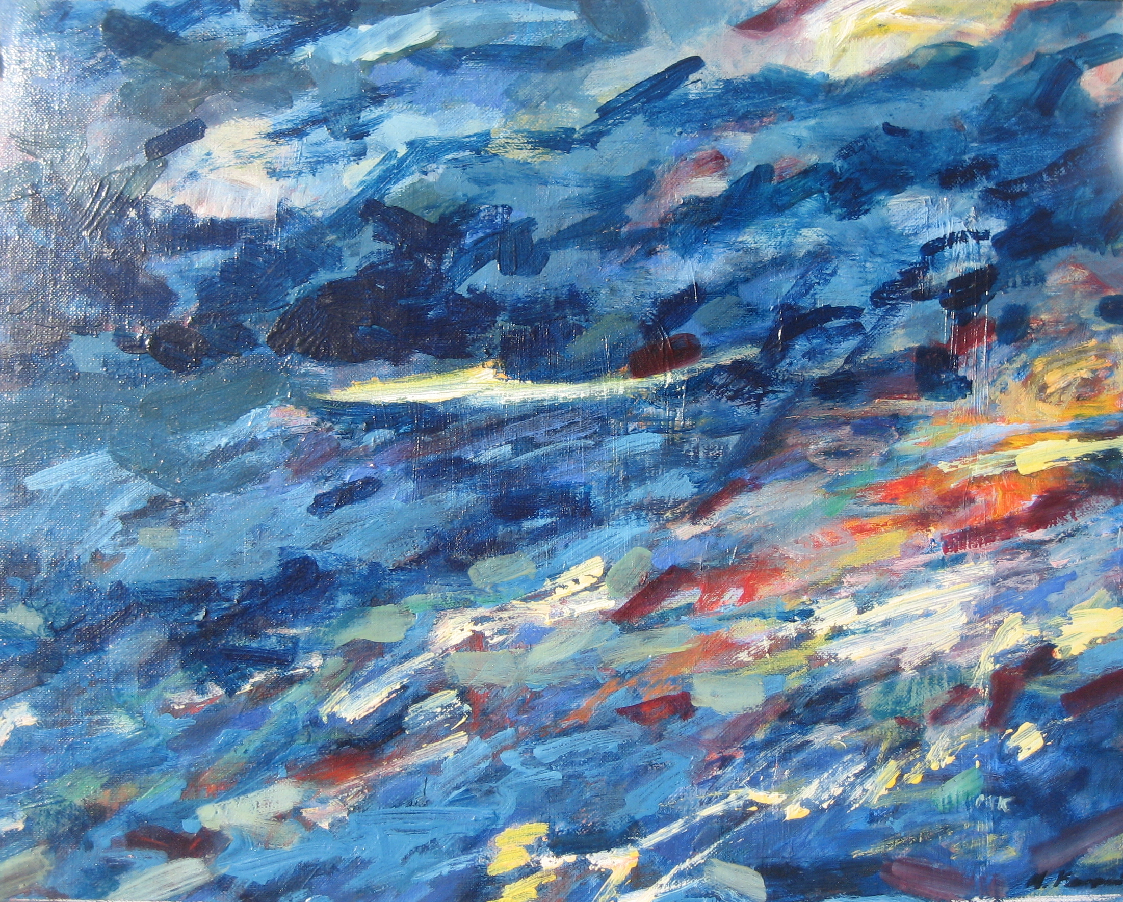 Seascape #5  oil on canvas 18in x 24in