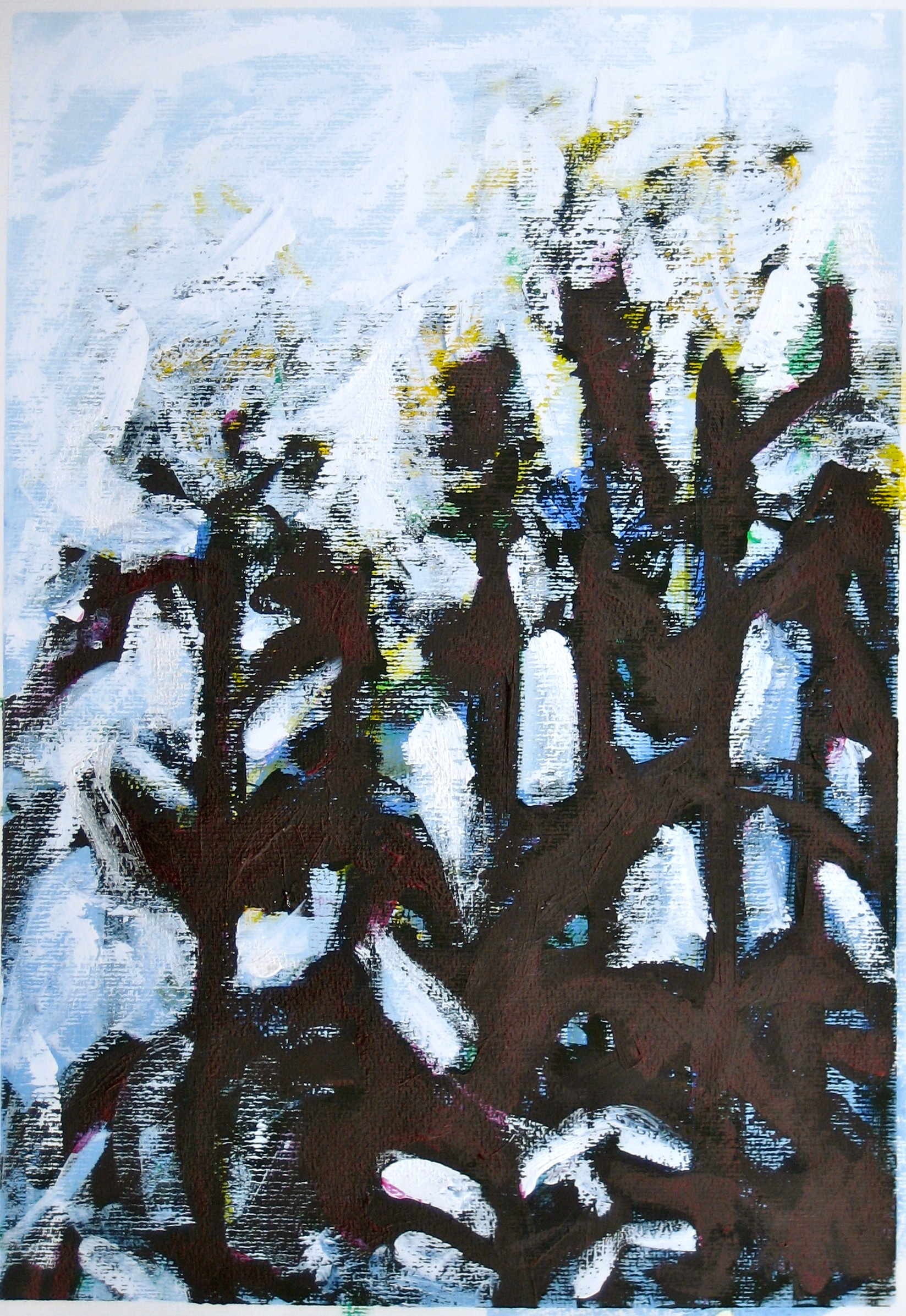 Transformation of Archetypal Plant  acrylic on paper 18in x 24in