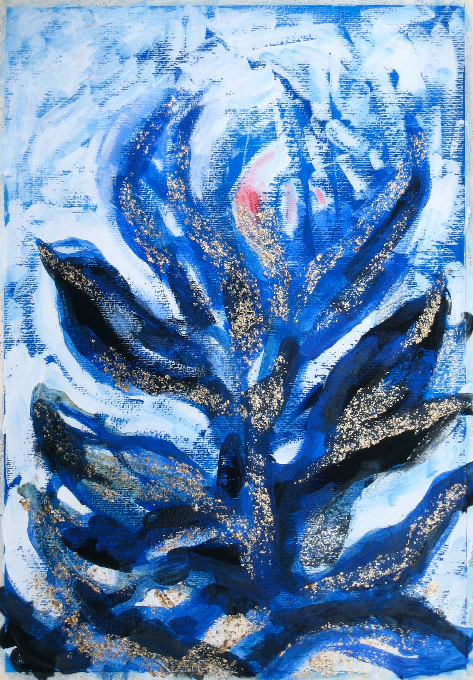 second Transformation of Archetypal Plant  acrylic on paper 18in x 24in