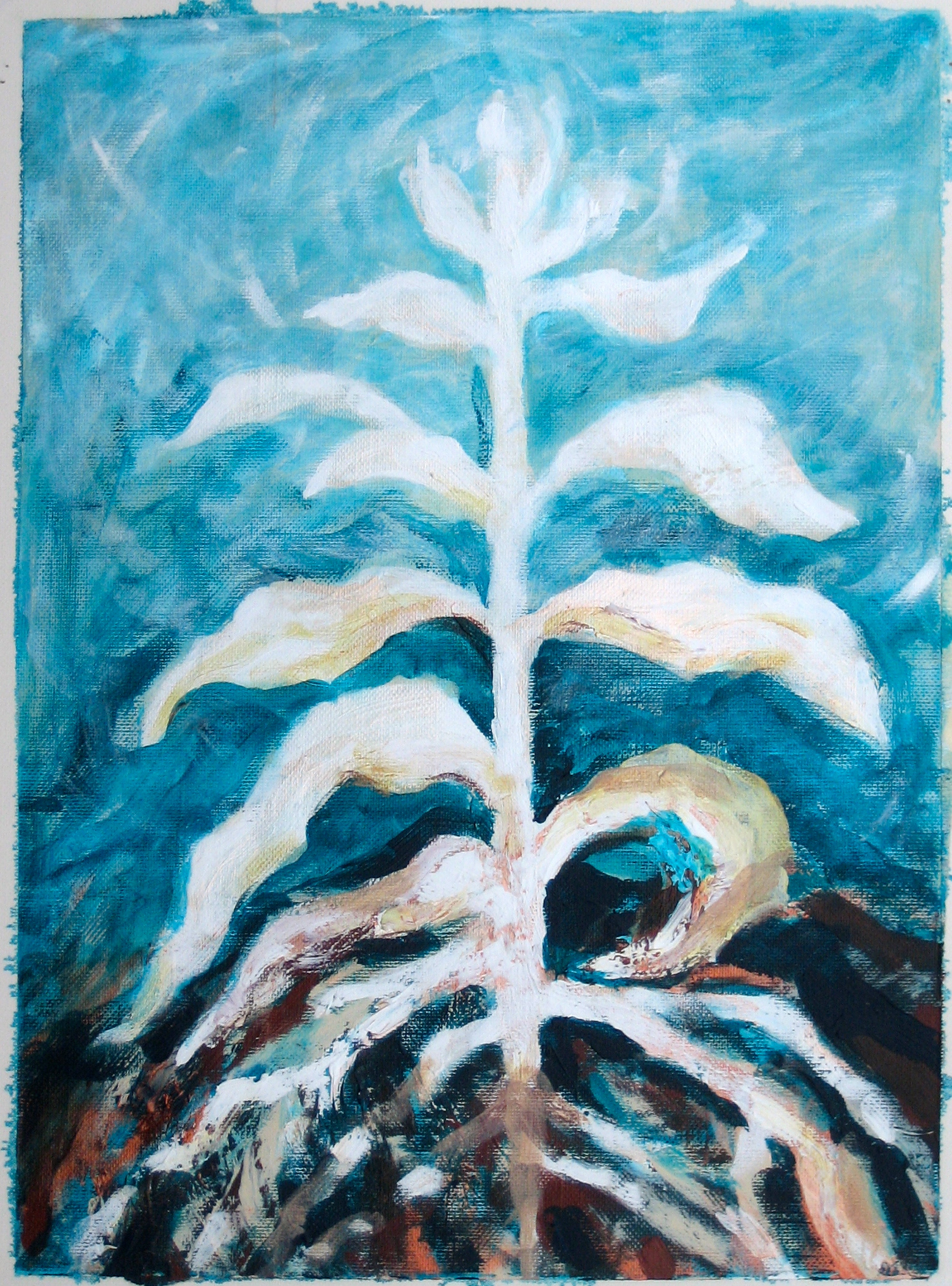 sixth Transformation of Archetypal Plant  acrylic on paper 18in x 24in