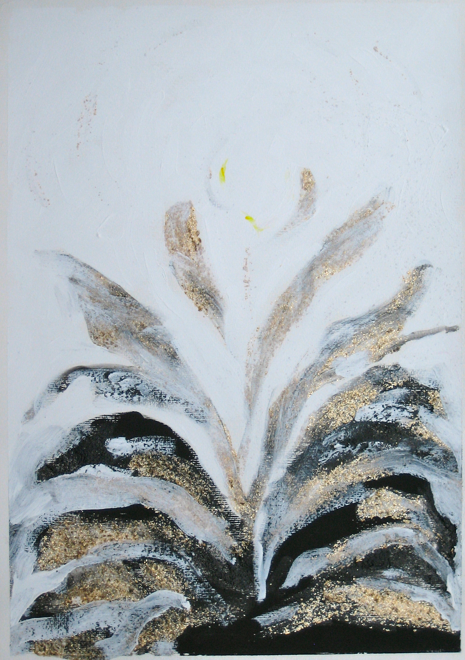 seventh Transformation of Archetypal Plant  acrylic on paper 18in x 24in