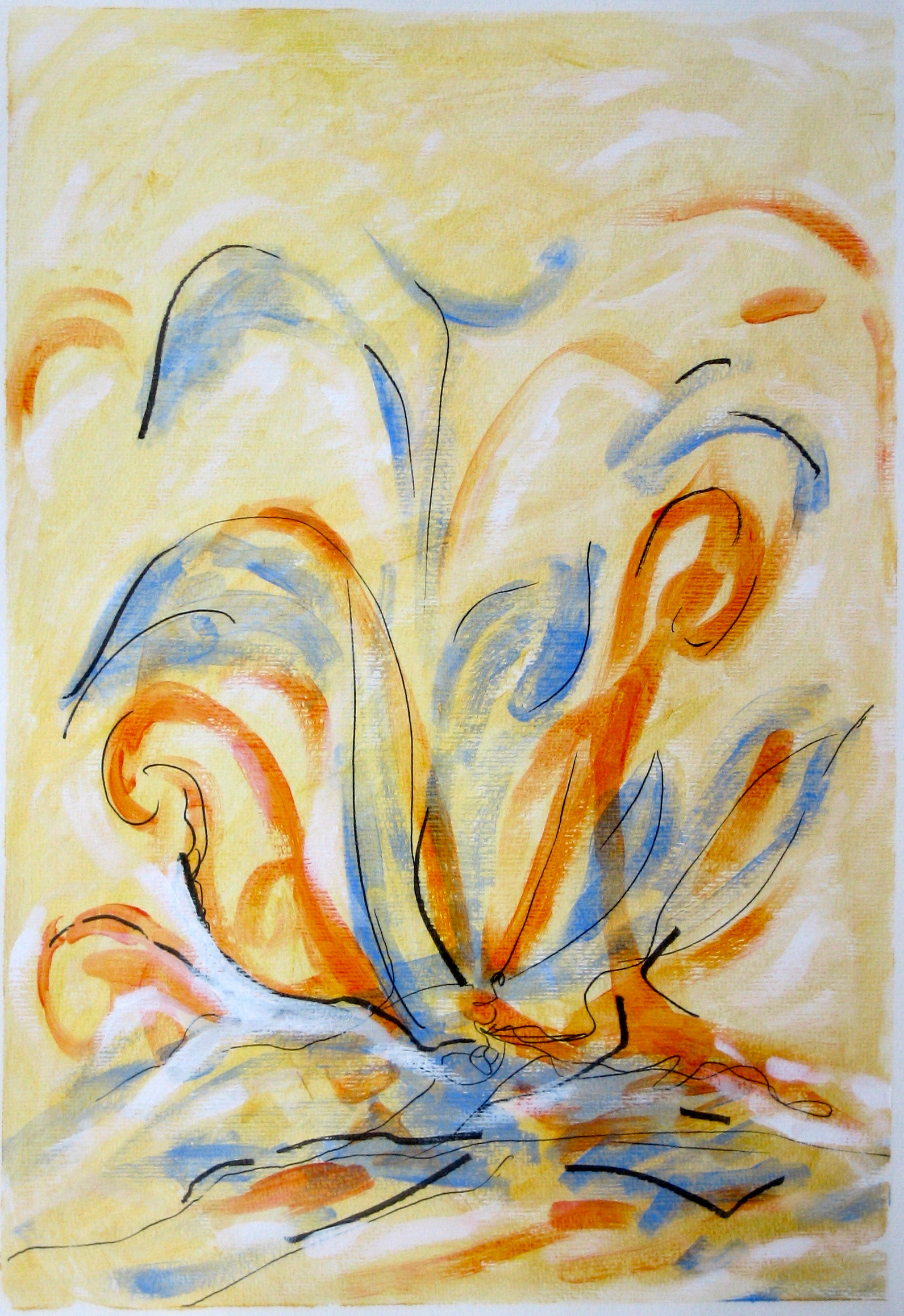 eight Transformation of Archetypal Plant  acrylic on paper 18in x 24in