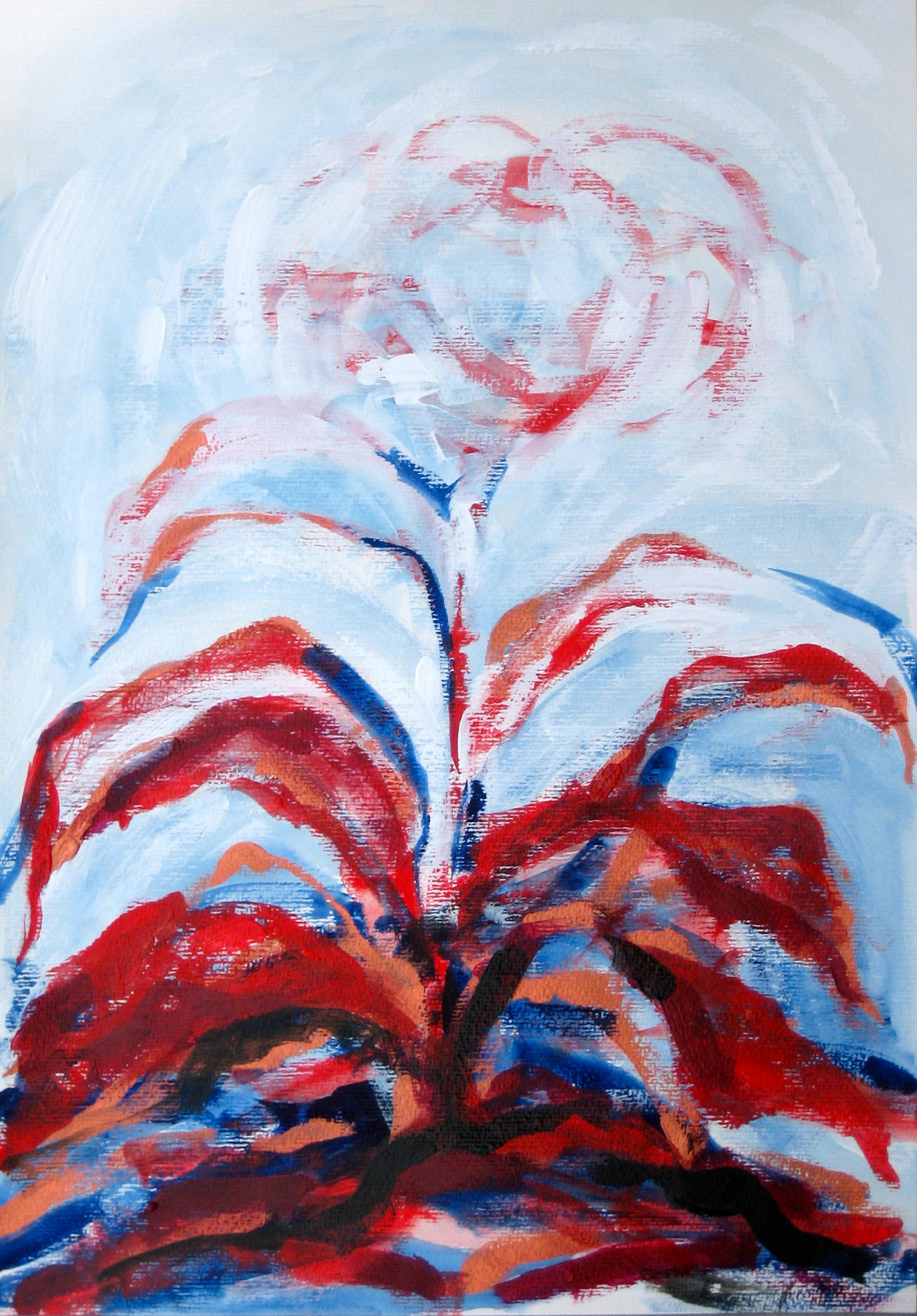 ninth Transformation # nine of Archetypal Plant  acrylic on paper 18in x 24in