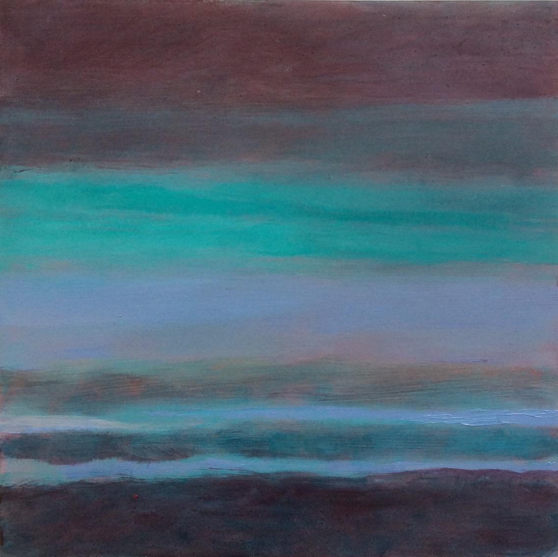 """Transcending Blue # II  oil on wooden board 12""""x 12"""""""