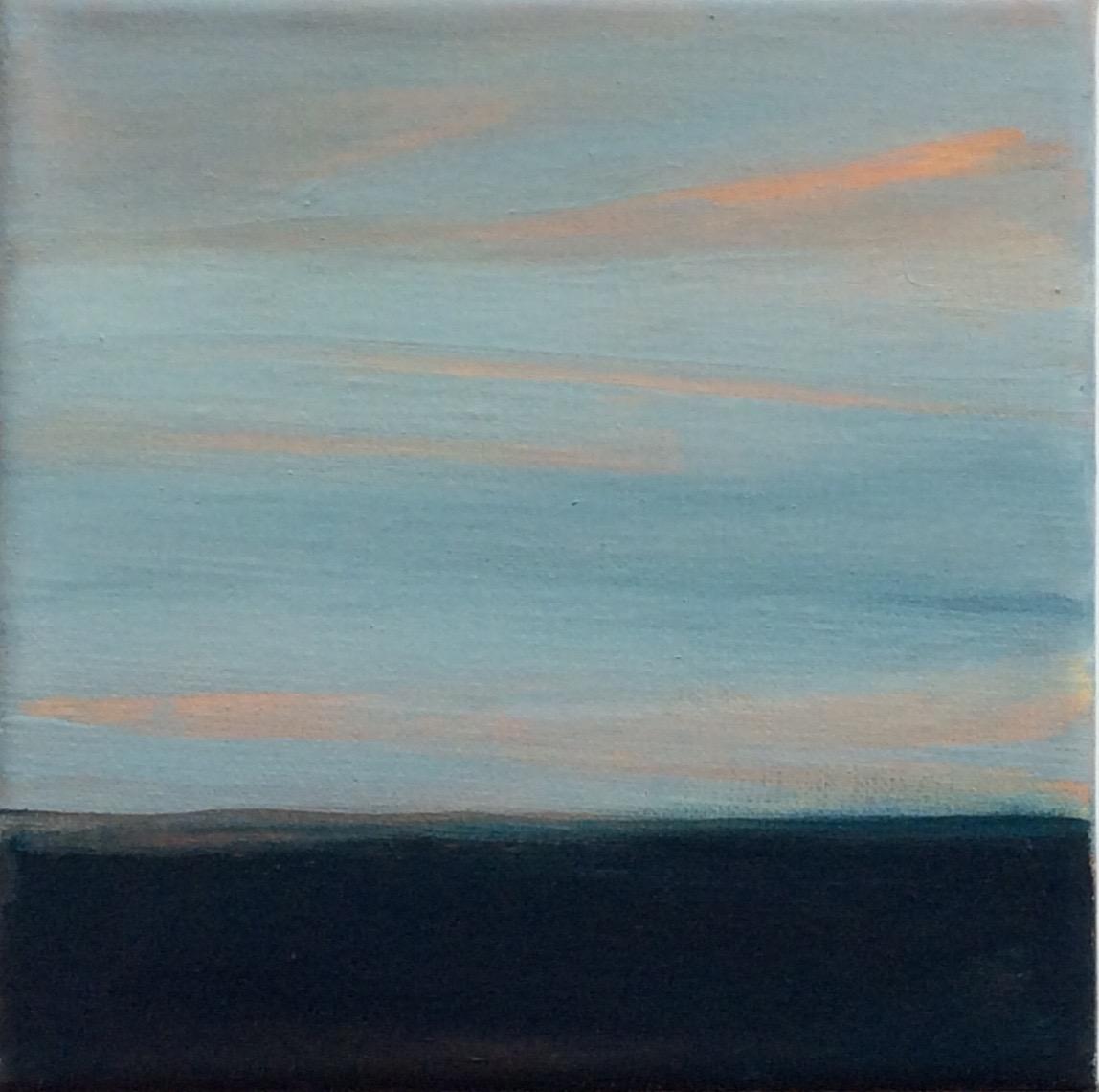 "Transcending Blue # XXI  oil on canvas 6""x 6"""