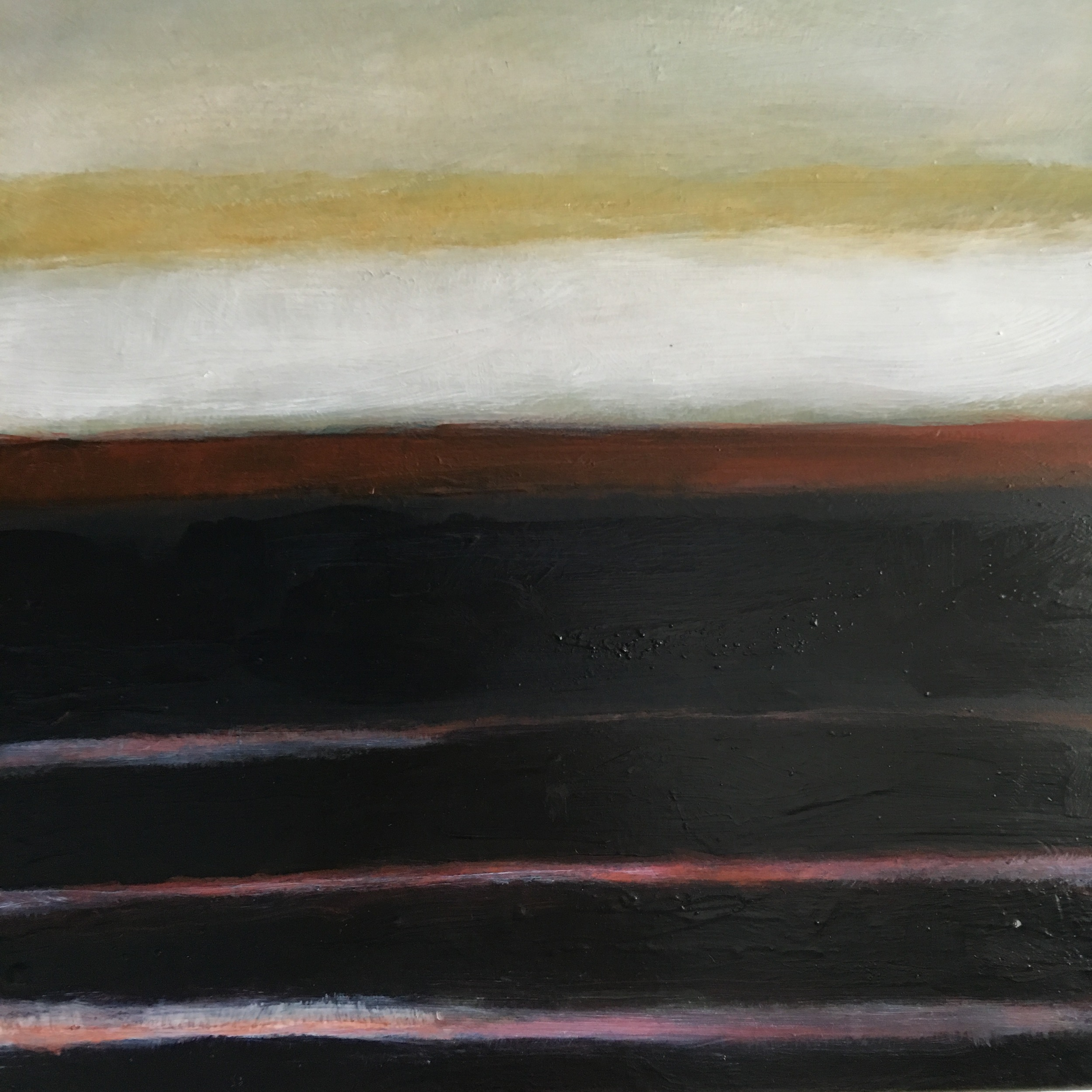 Transcending Red # Transcending Red # VI  II  oil on wood panel 12in x 12in