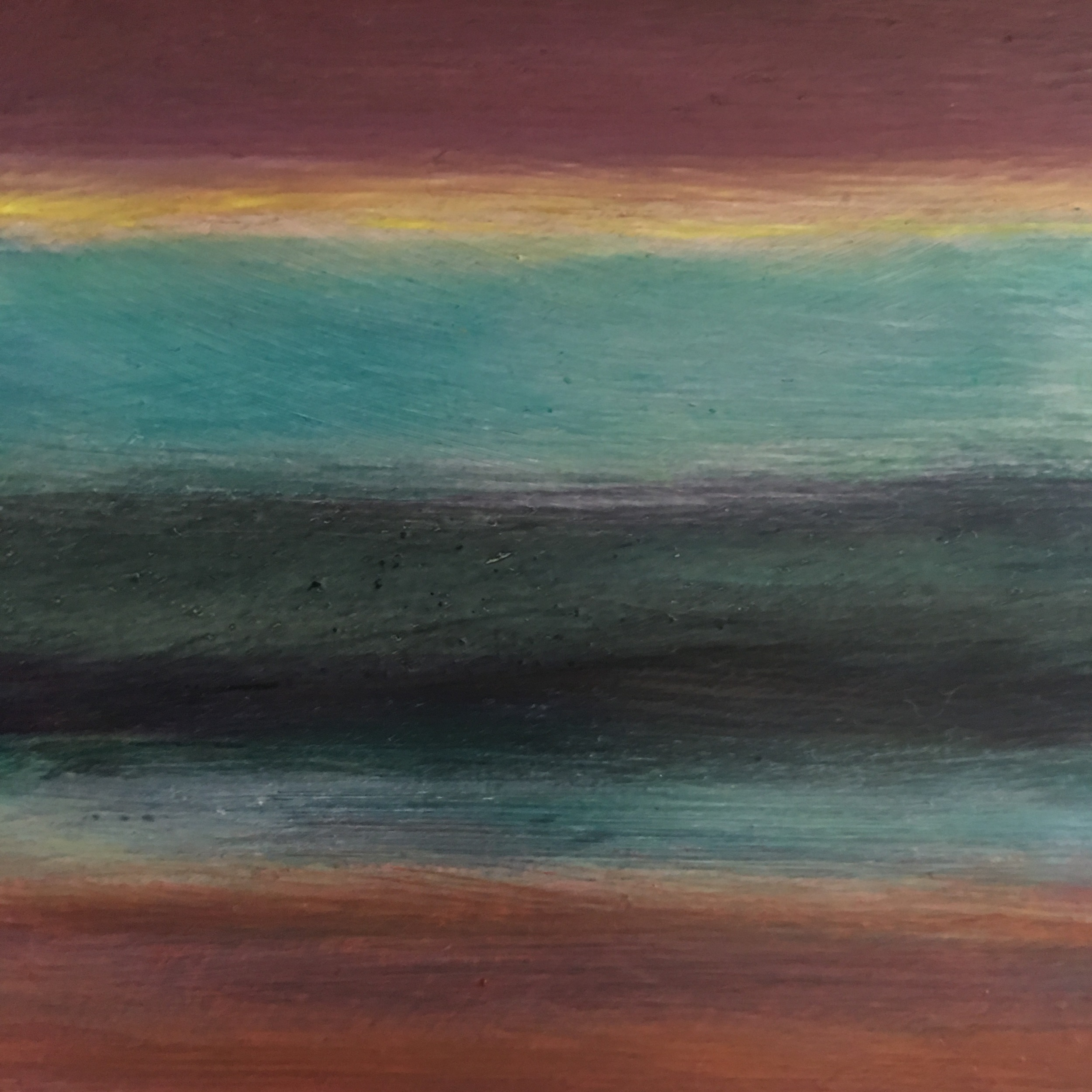 """Transcending Blue # XI  oil on wooden board 5""""x 5"""""""