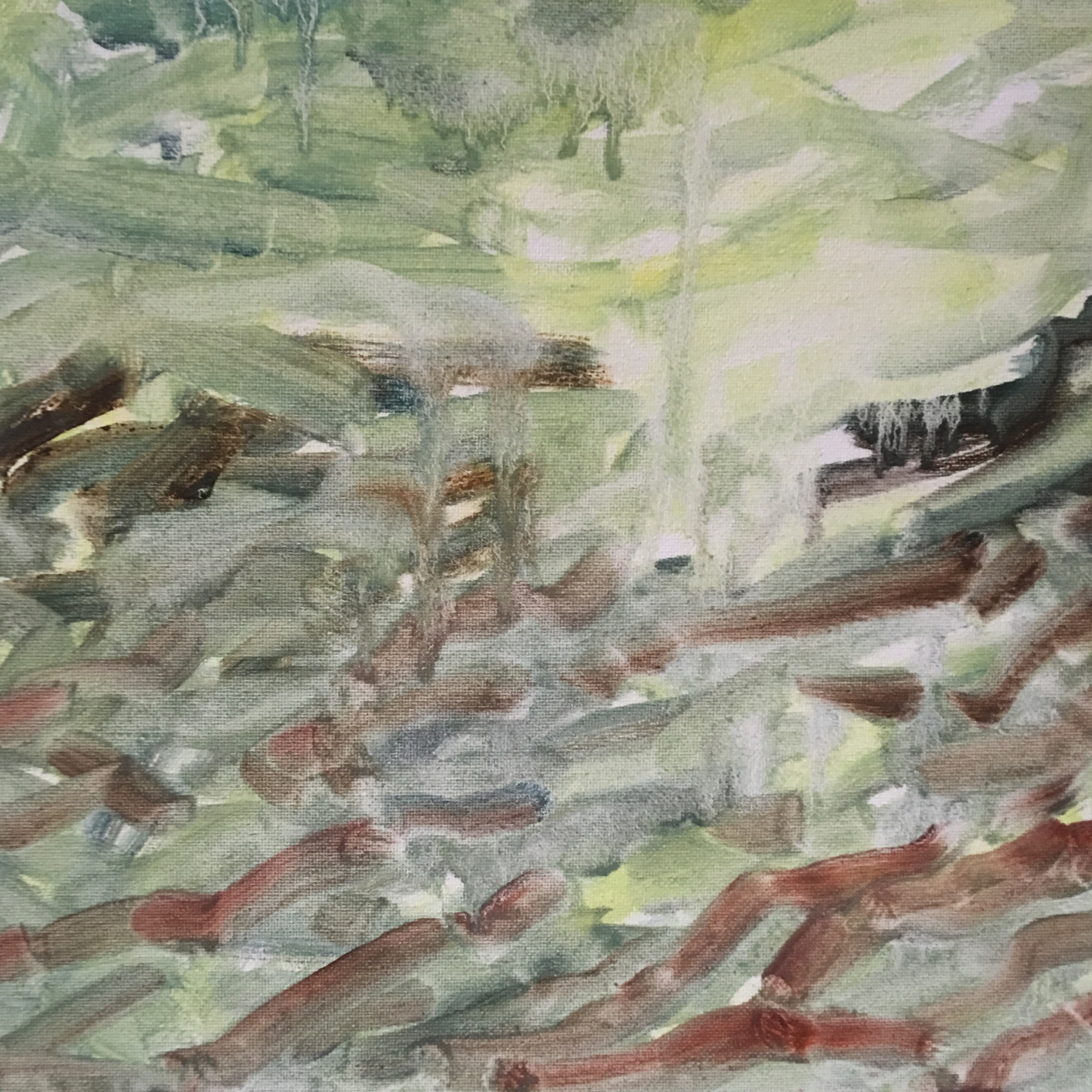 "Light and Dark IV  oil on canvas 12""x12"""