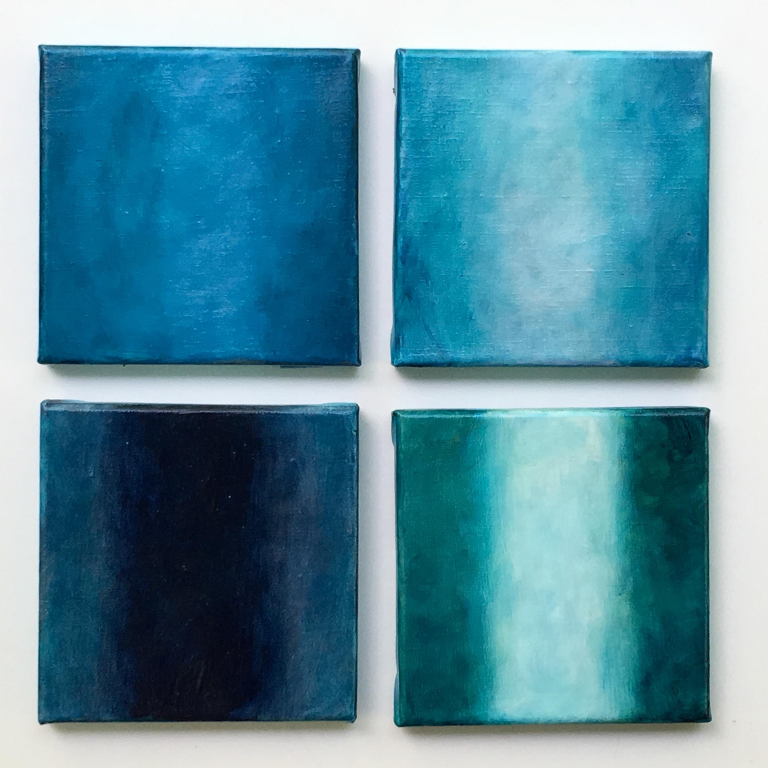 """Lightness XI  oil on canvas 4 X 6""""x6 """""""