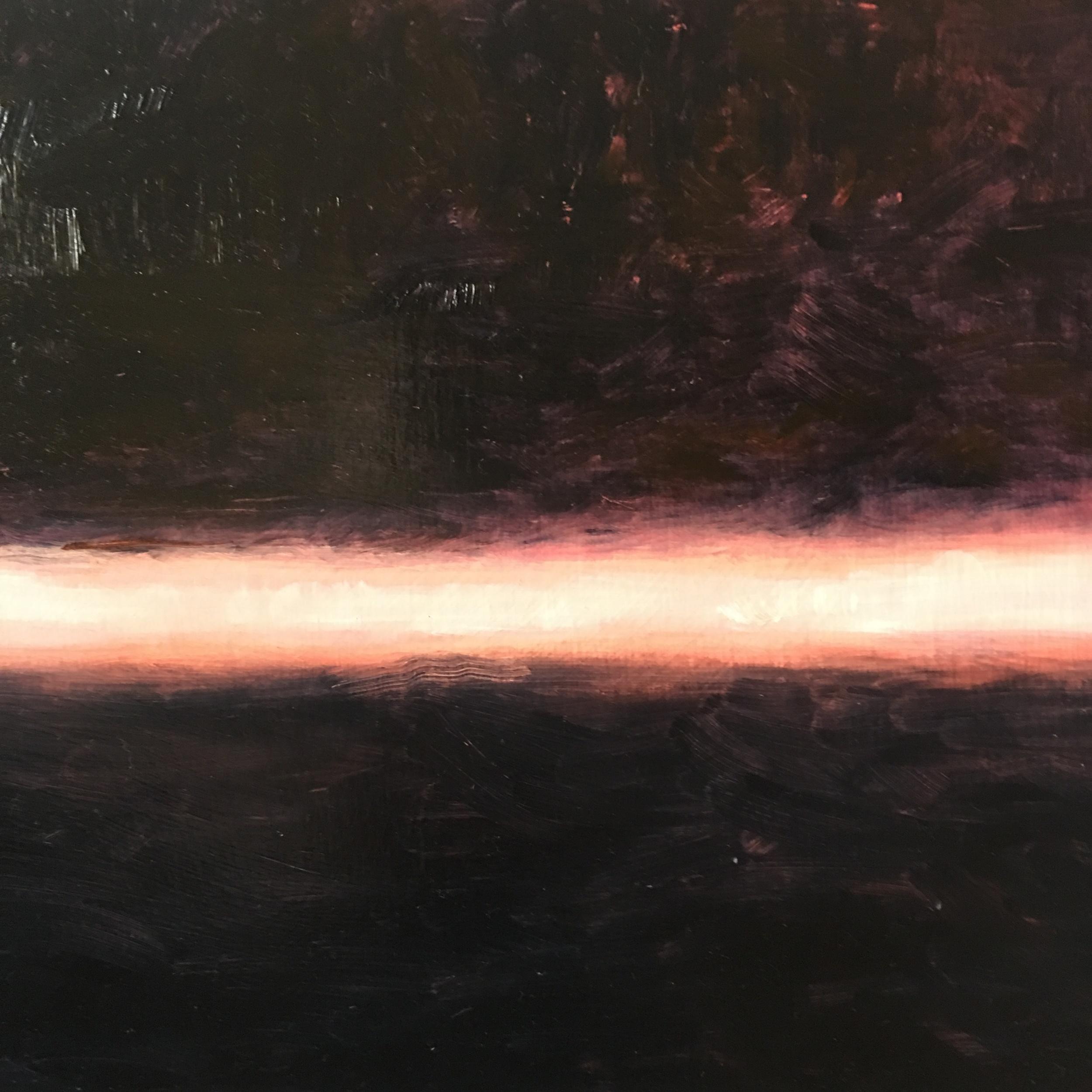 "Lightness XII  oil on wood board 12""x12"""