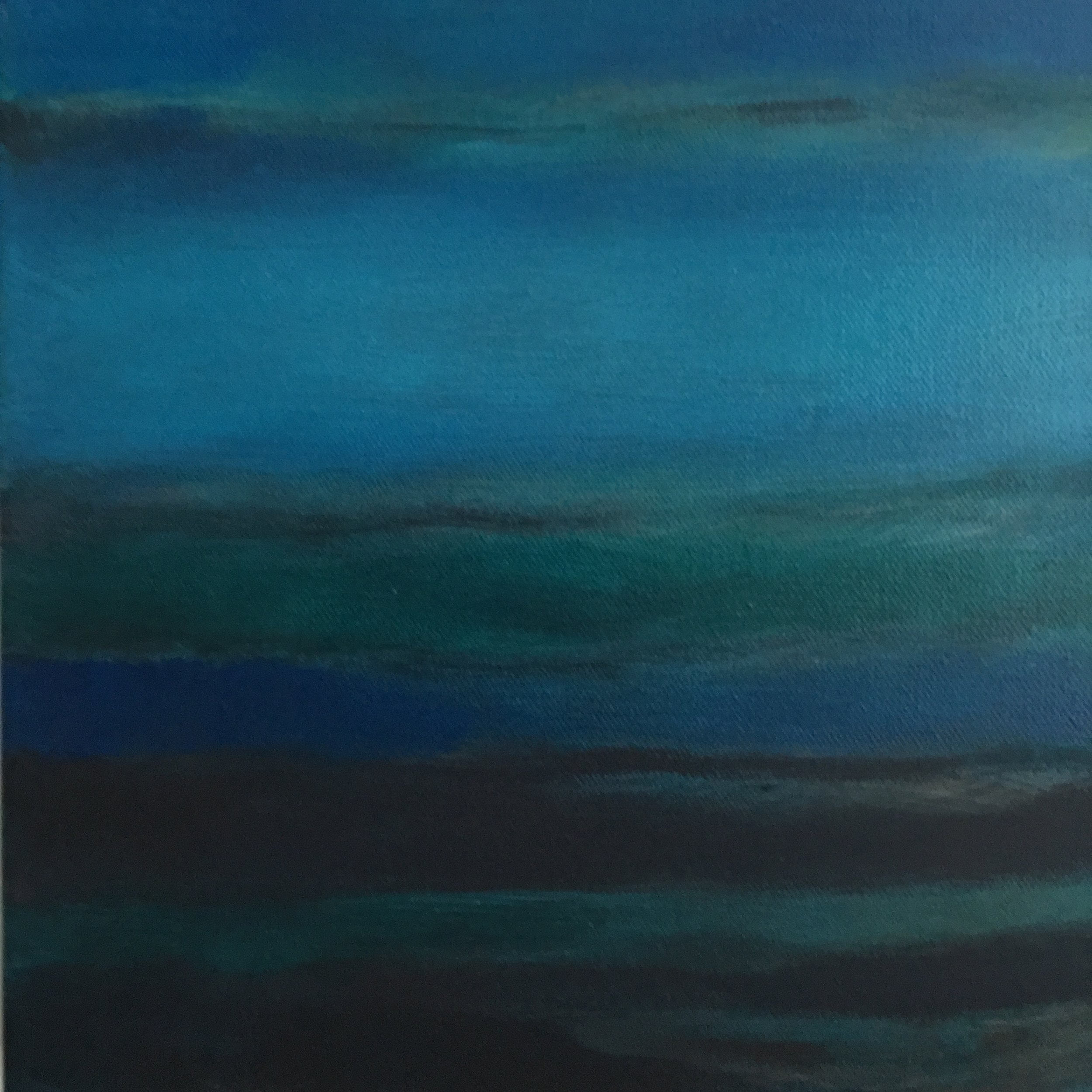 "Open Horizontal Fields # XI  oil on canvas 10""x10"""