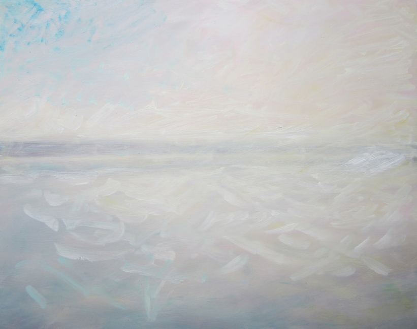 "Transcending White II   oil on wooden board   20"" x16"""
