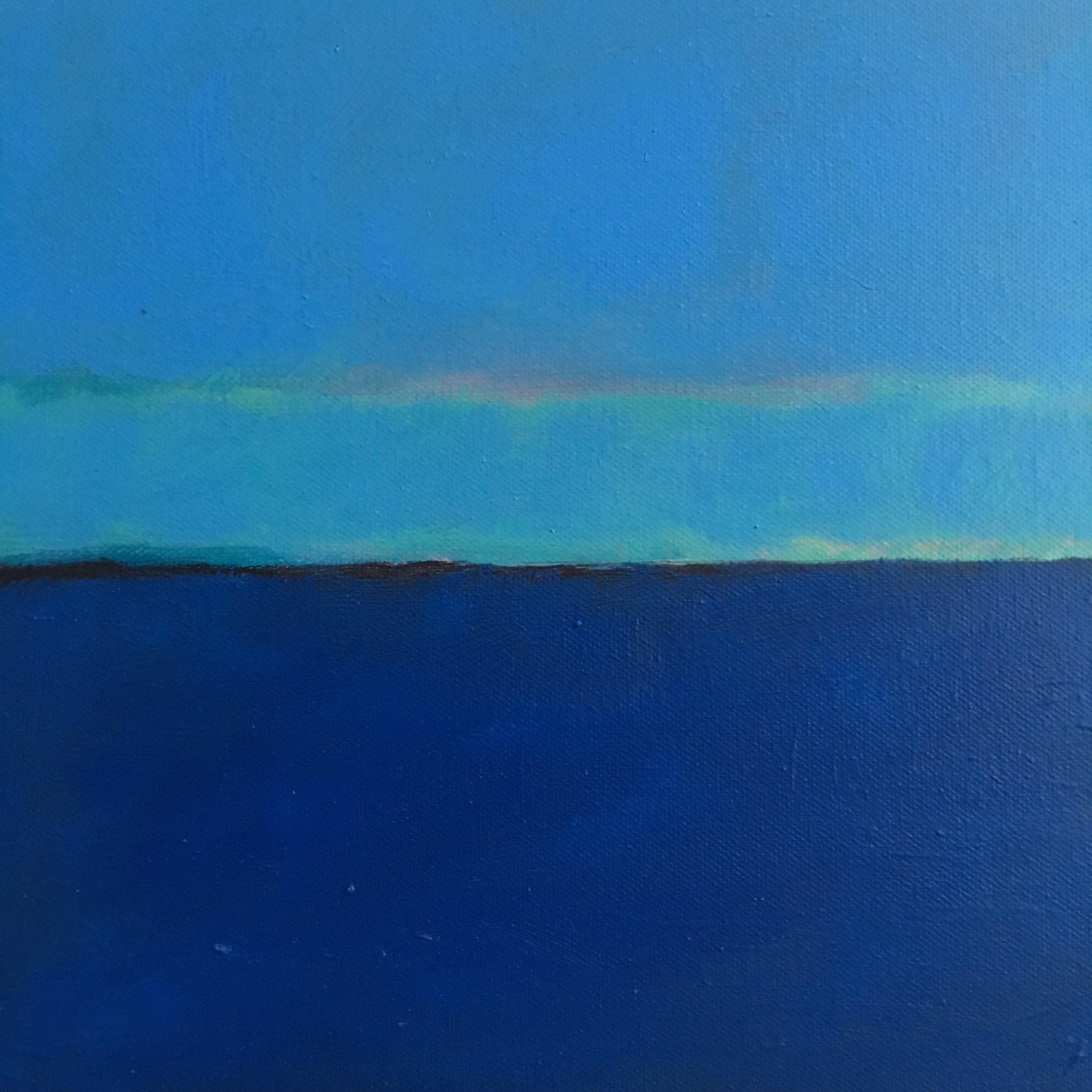"Open Horizontal Fields # X  oil on canvas 10""x10"""