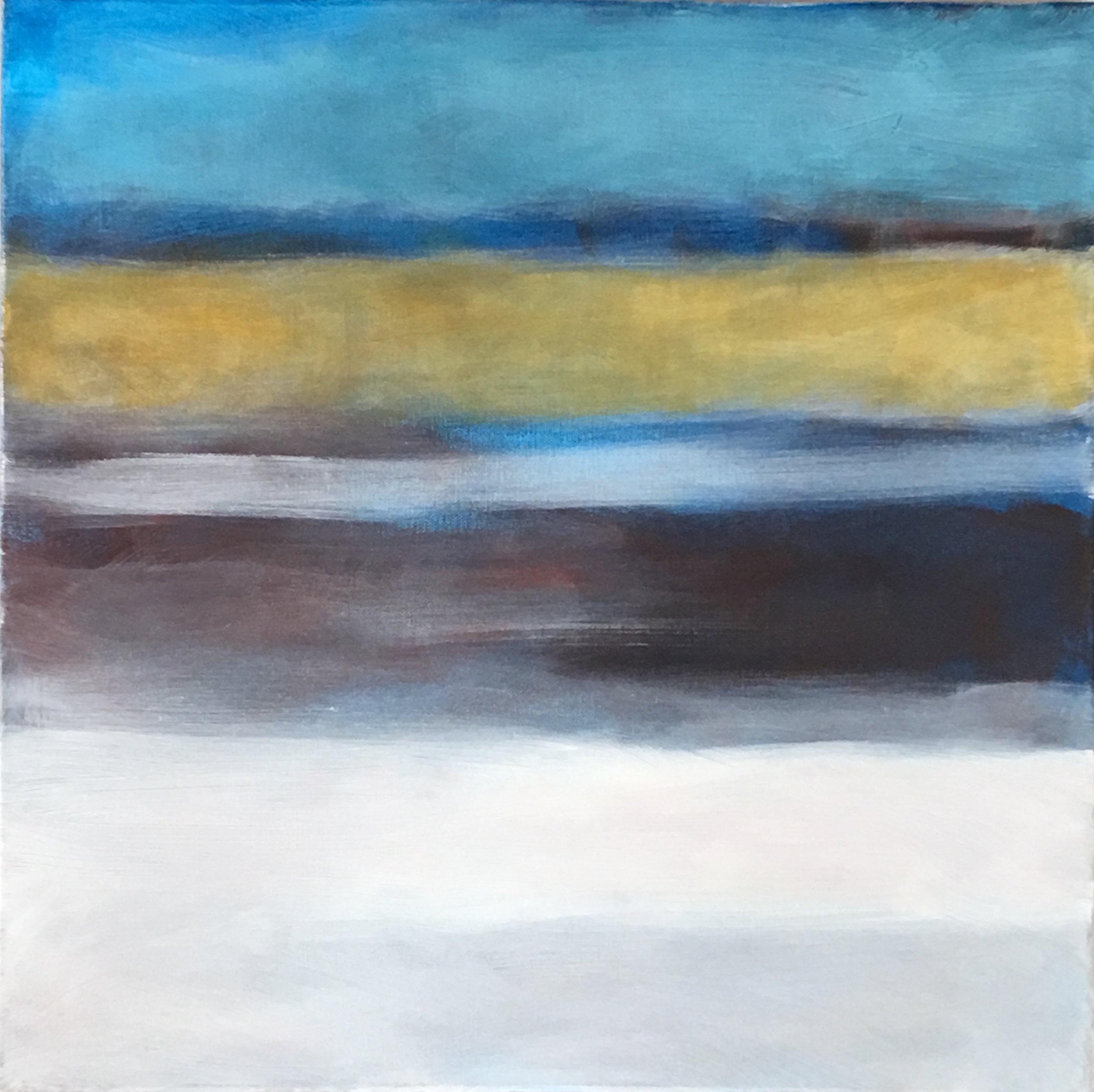"Open Horizontal # XI  V  oil on canvas 18""x 18"""