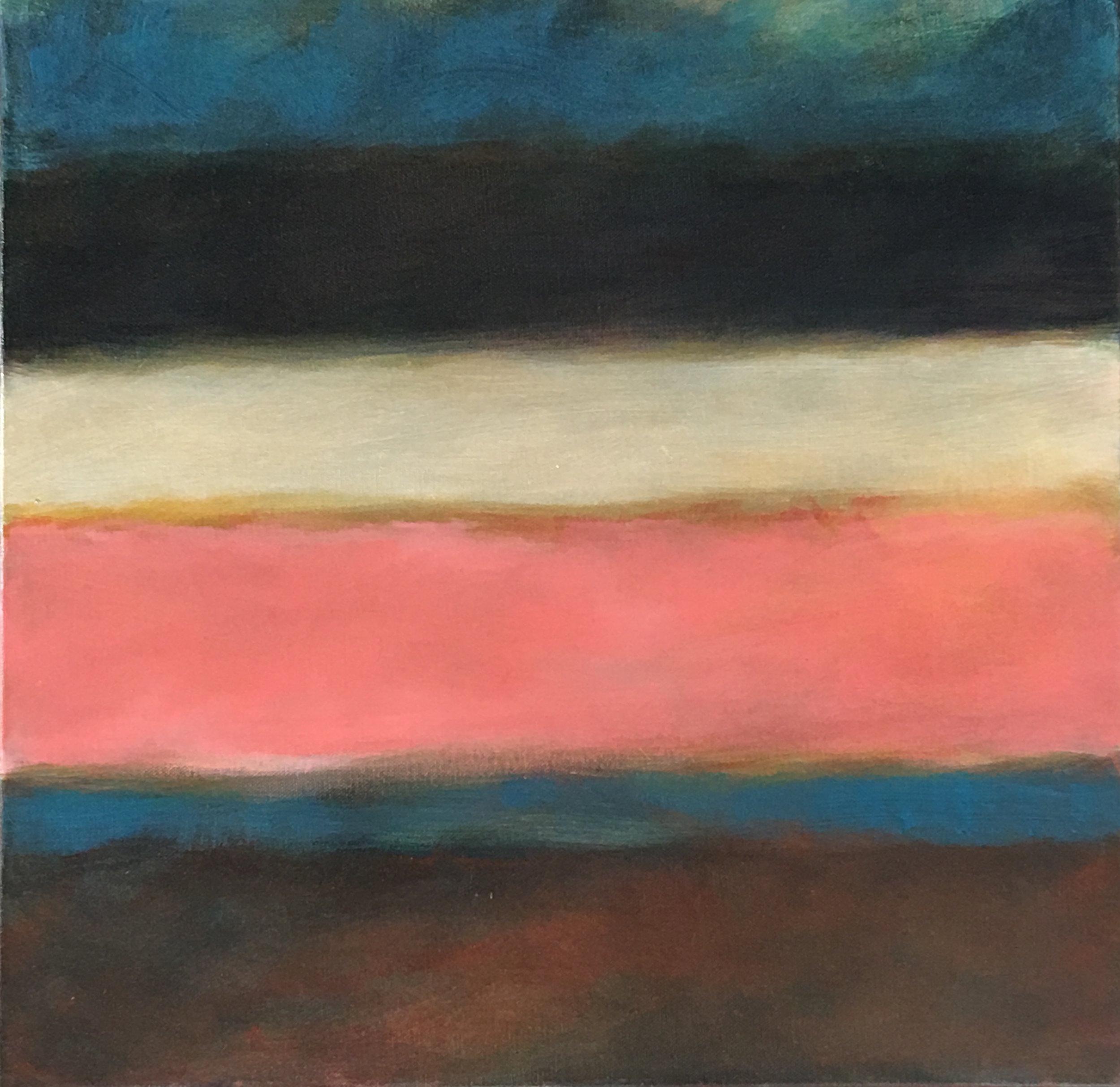 "Open Horizontal # X  V  oil on canvas 18""x 18"""