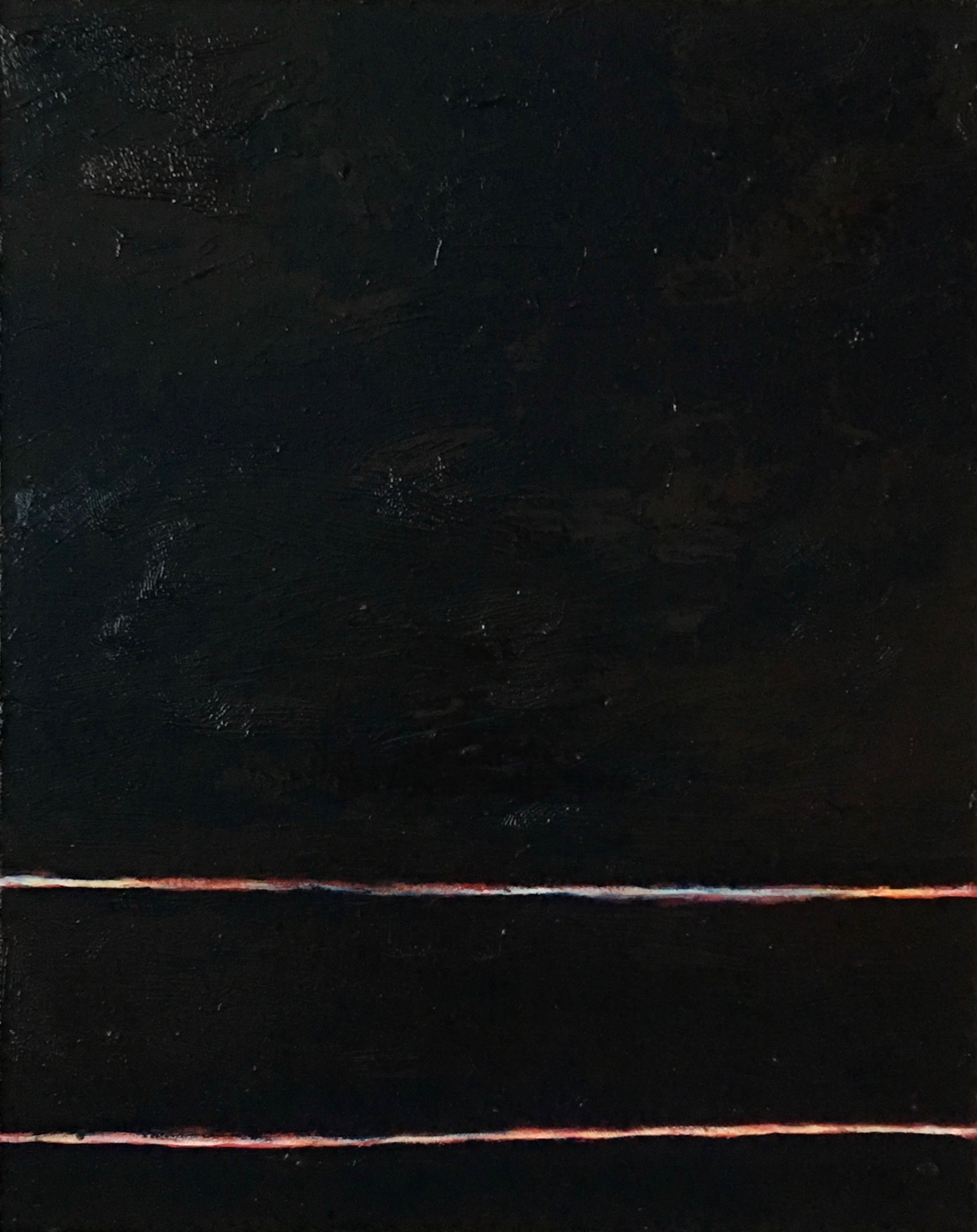 """In- Between Darkness # IV   oil on canvas 16"""" x 20""""  sold"""