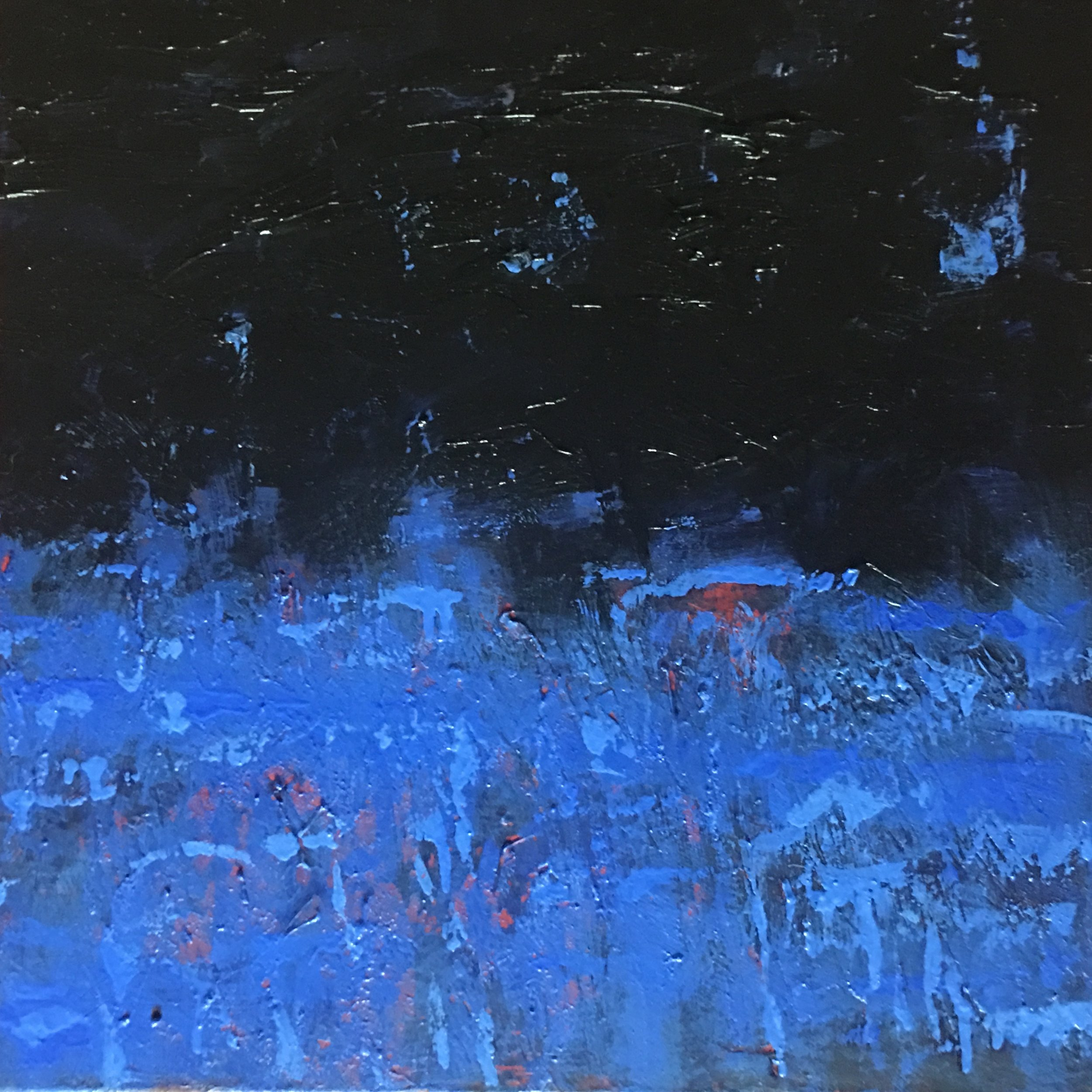 "Nocturne #V  oil on canvas 18""x 18"""