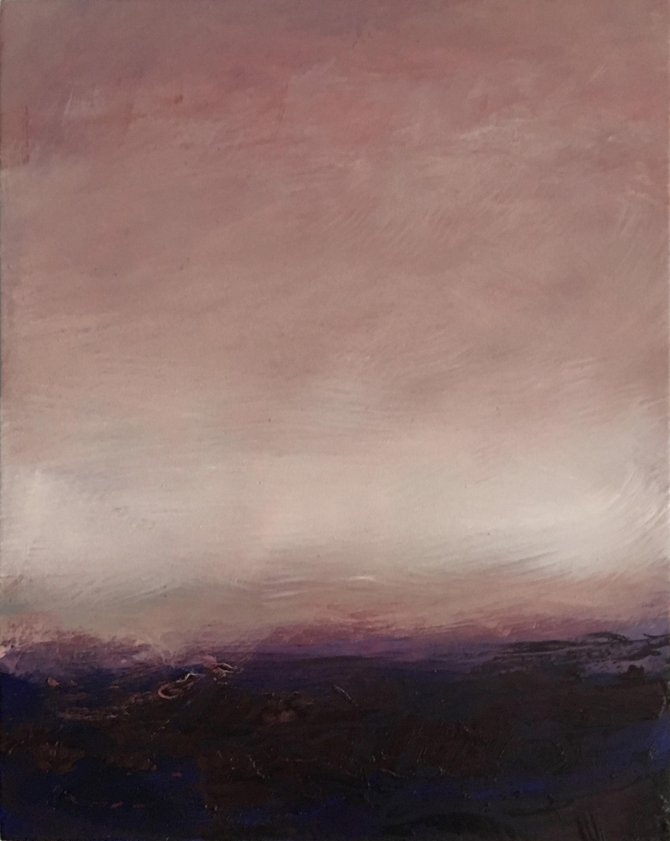 "Open Horizontal # XVIII  oil on wood panel 10"" x 8"" ( 25.4 x 20.3 cm ) 2018"