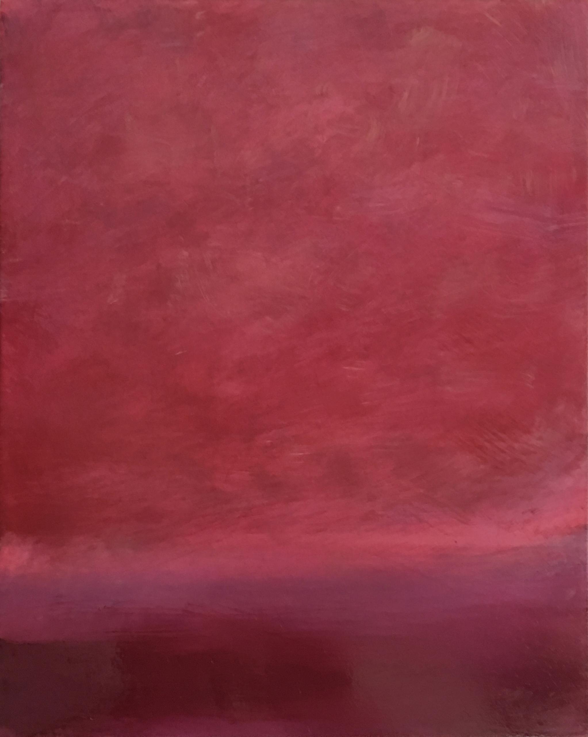"Open Horizontal # XIX  oil on wood panel 10"" x 8"" ( 25.4 x 20.3 cm ) 2018"