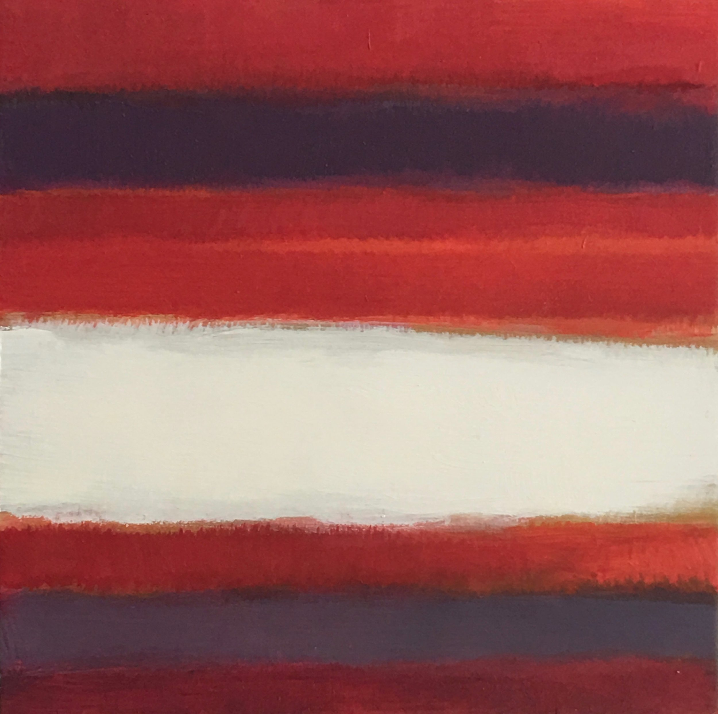 "Open Horizontal  XXI oil on wood panel 6"" x 6"" ( 15.2 x 15.2 cm ) 2018"