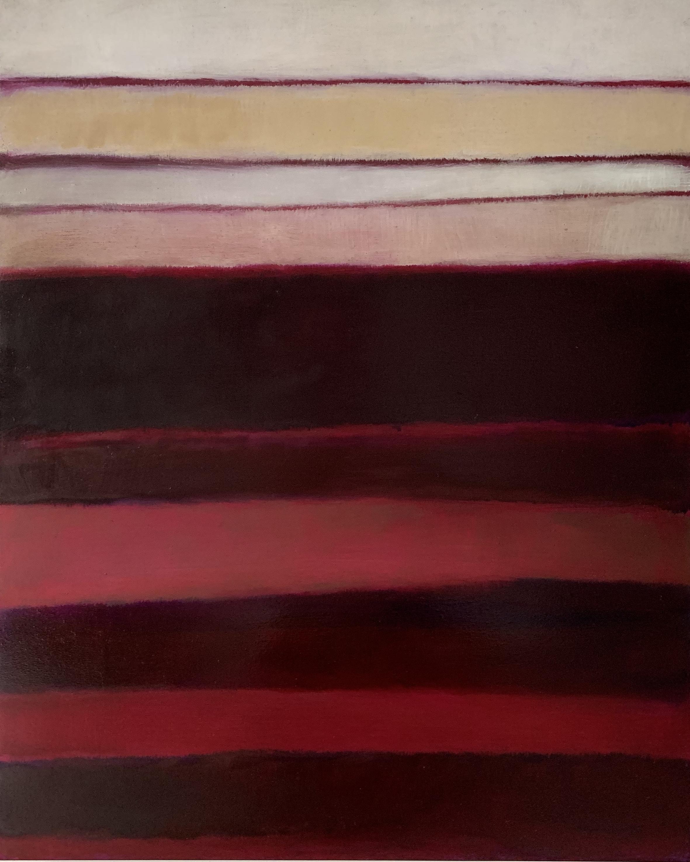 "Nocturne # XVII  oil on wood panel 20""x 16"" ( 51 x 41 cm ) 2018"