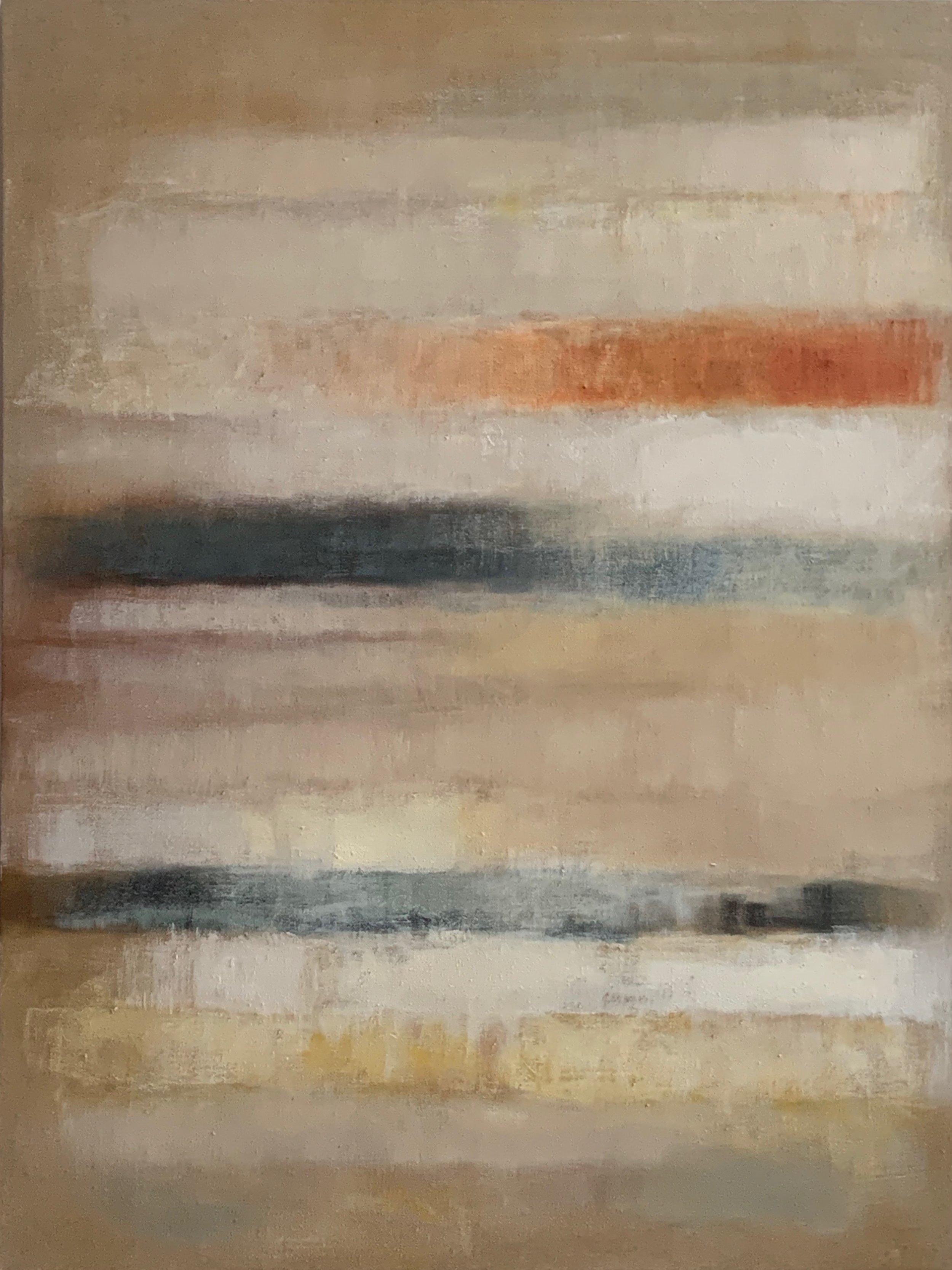 "The White Series VII  oil on linen 48""x 36"" ( 122 x 91.5 cm ) 2019"
