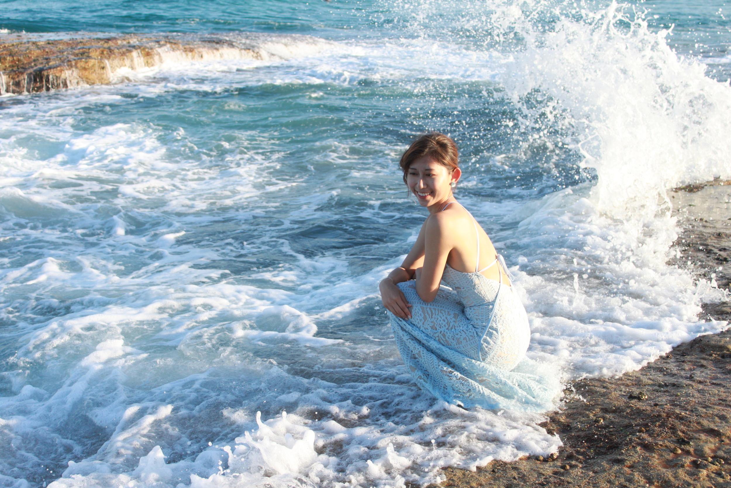 Wearing:  Swan by VGY blue full lace maxi dress / DearPostman Under the Same Sky earrings (coming out soon)