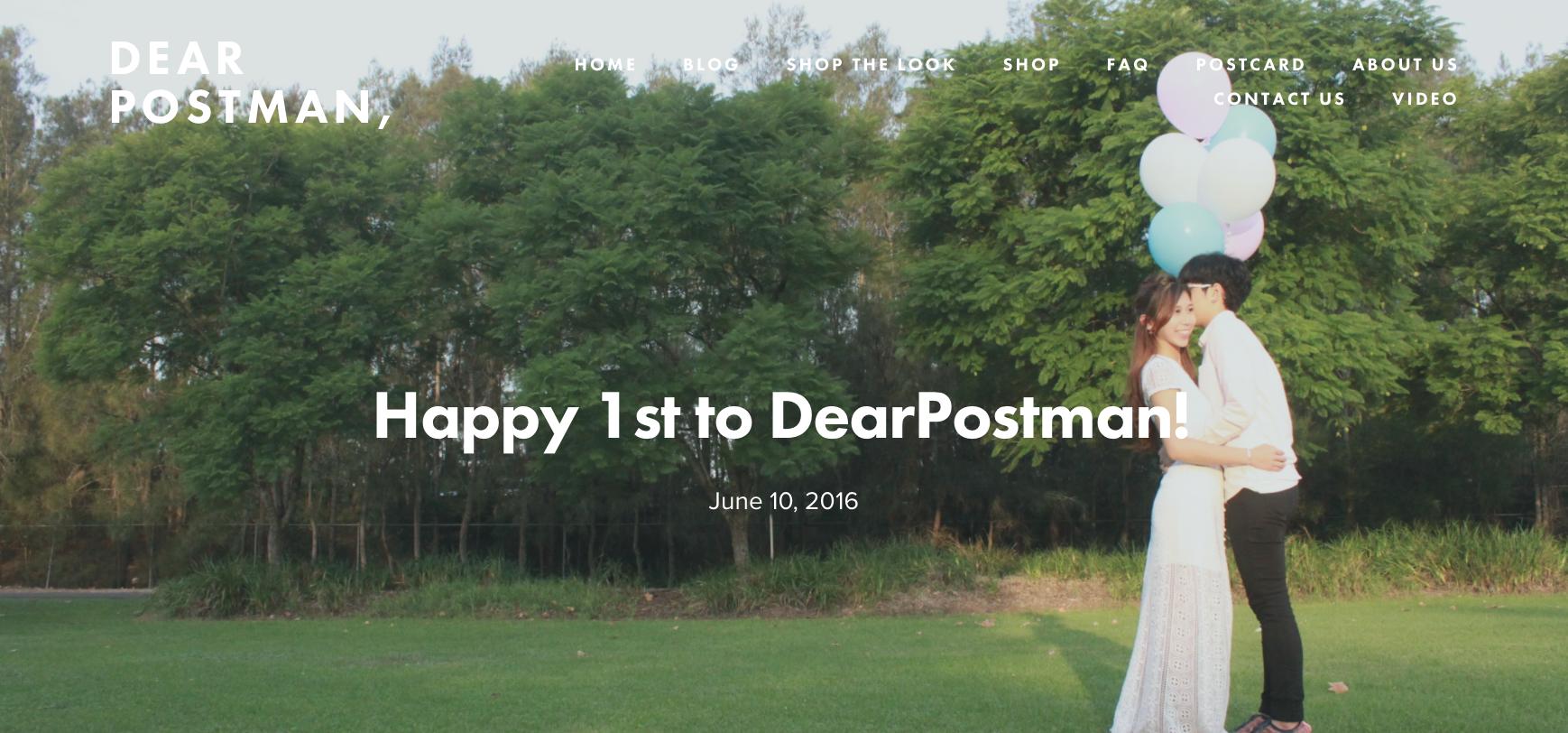 Happy 1st to DearPostman!