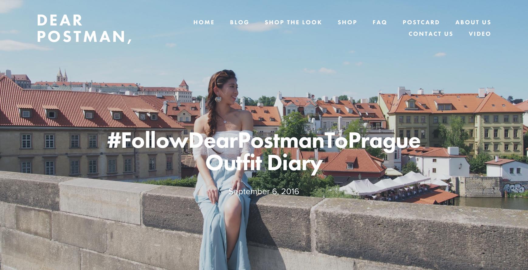 #FollowDearPostmanToPrague Outfit Diary