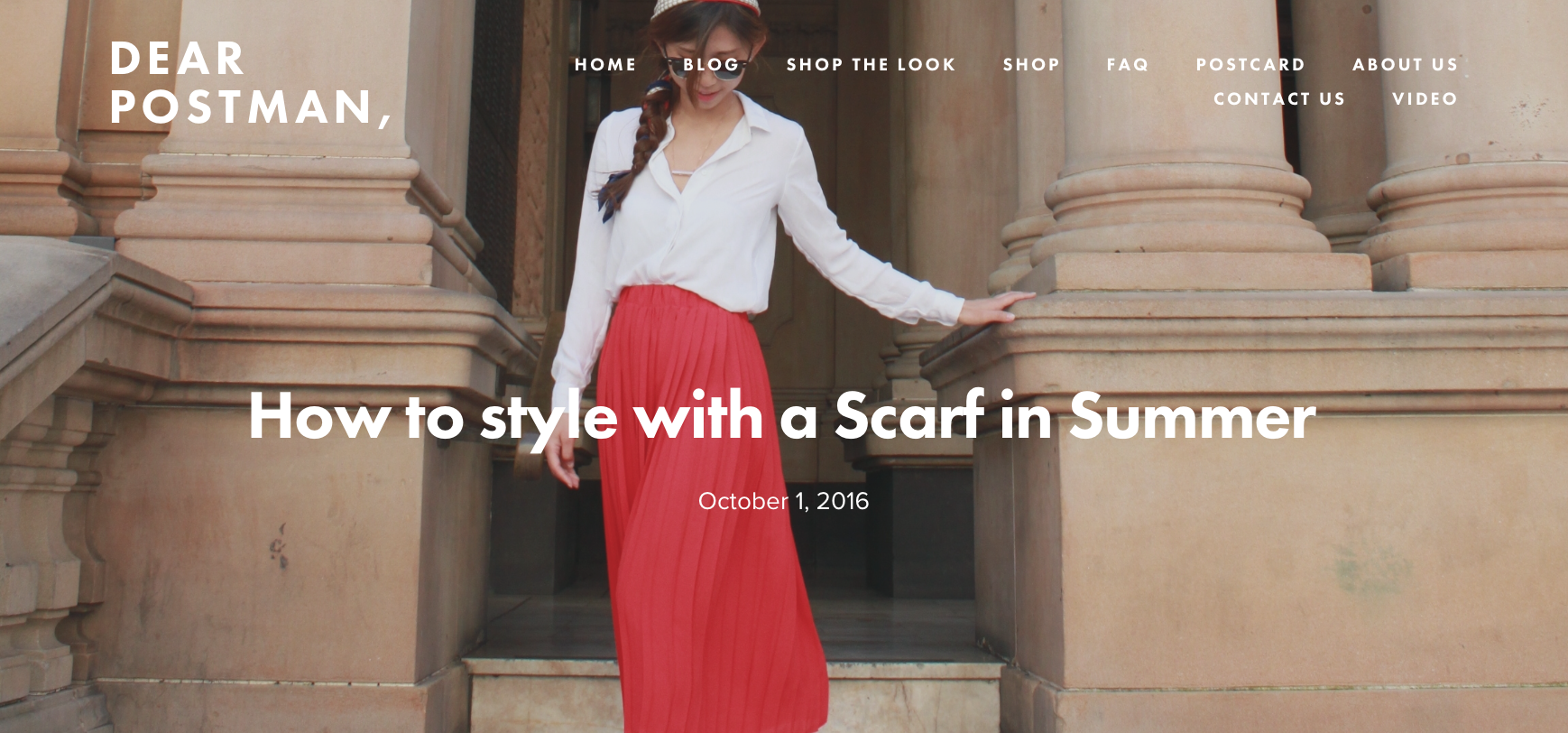 How to Style with a Scarf in Summer