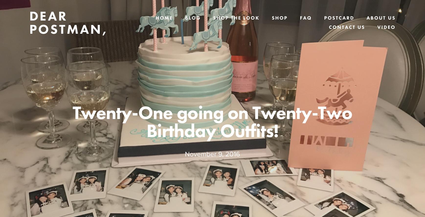 Twenty-One going on Twenty-Two Birthday Outfits!