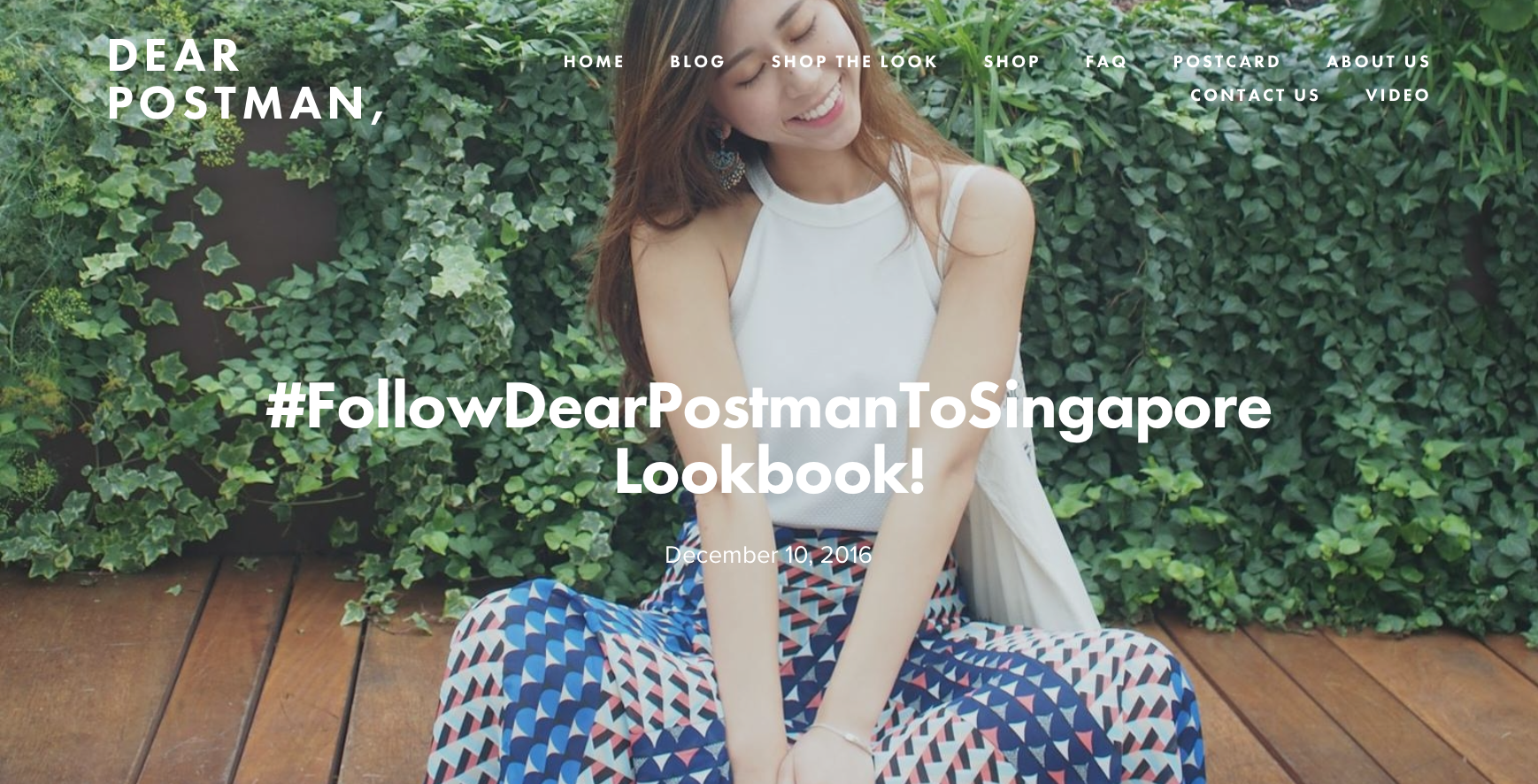 #FollowDearPostmanToSingapore Lookbook!