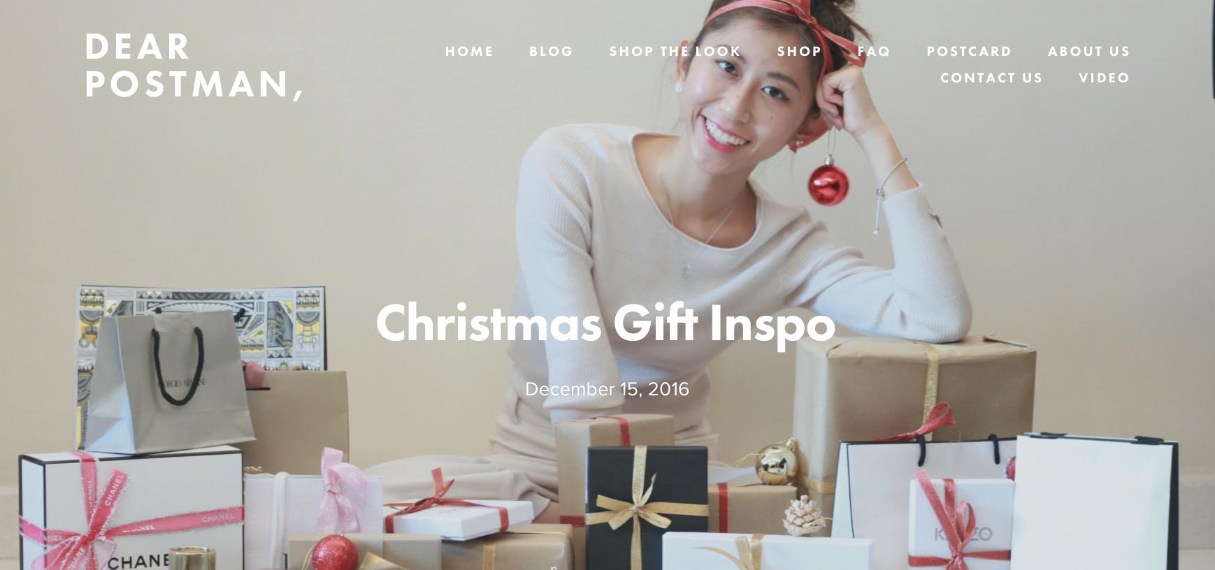 Christmas Gift Inspo