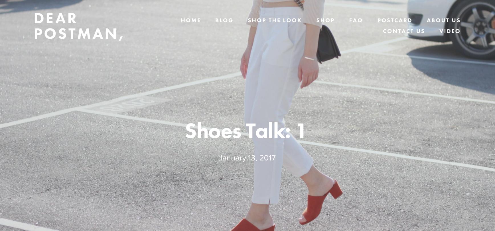 Shoes Talk: 1