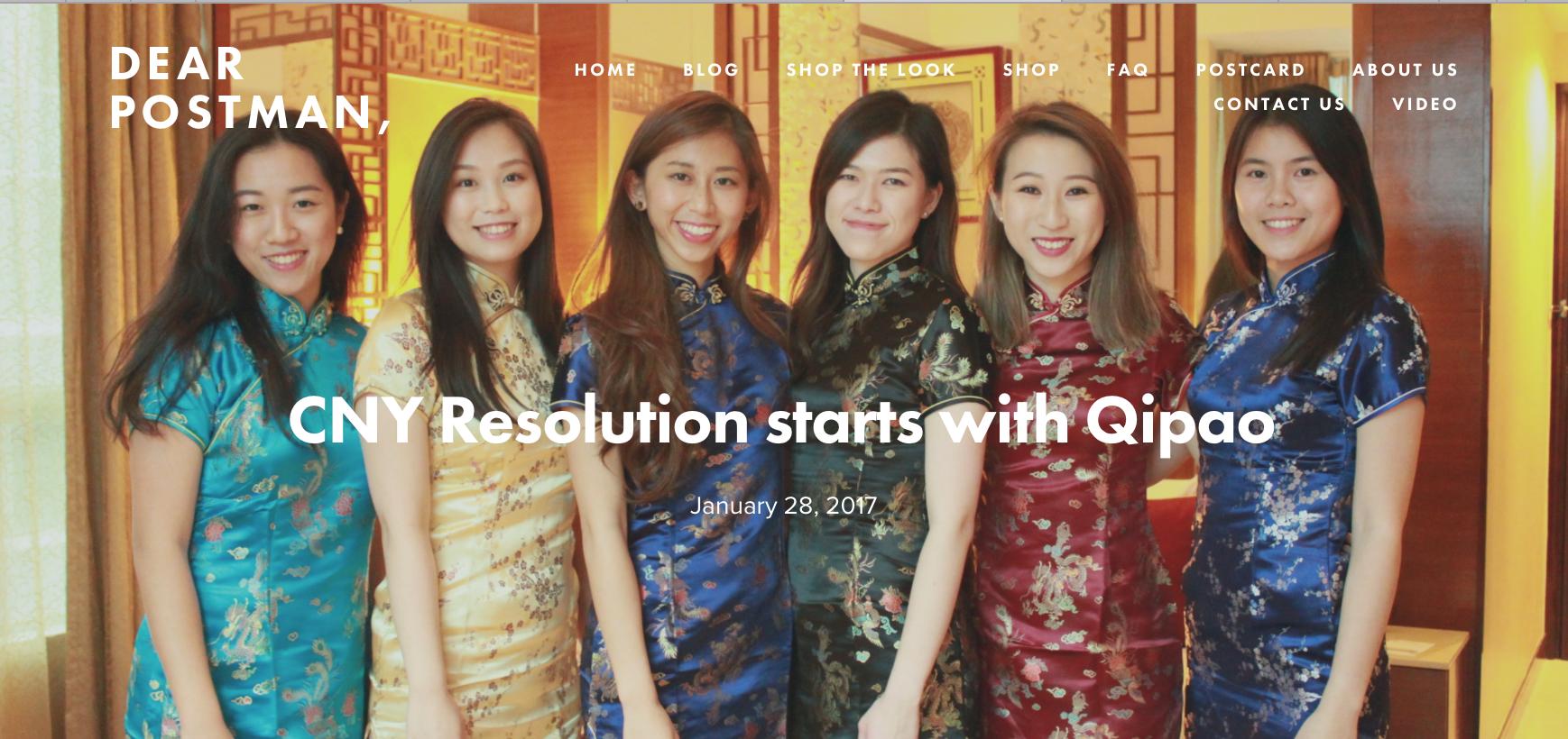 CNY Resolution starts with Qipao