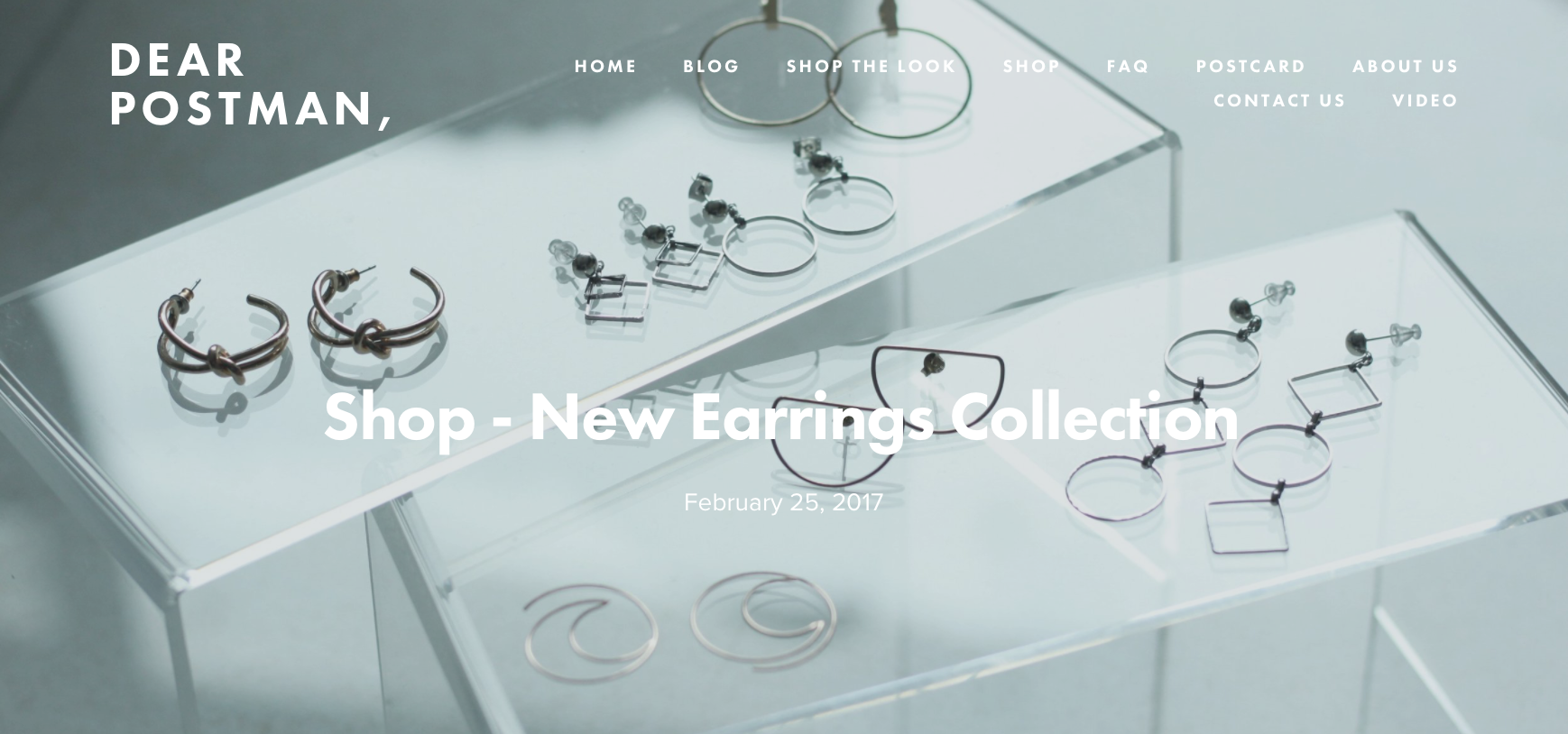 Shop - New Earrings Collection