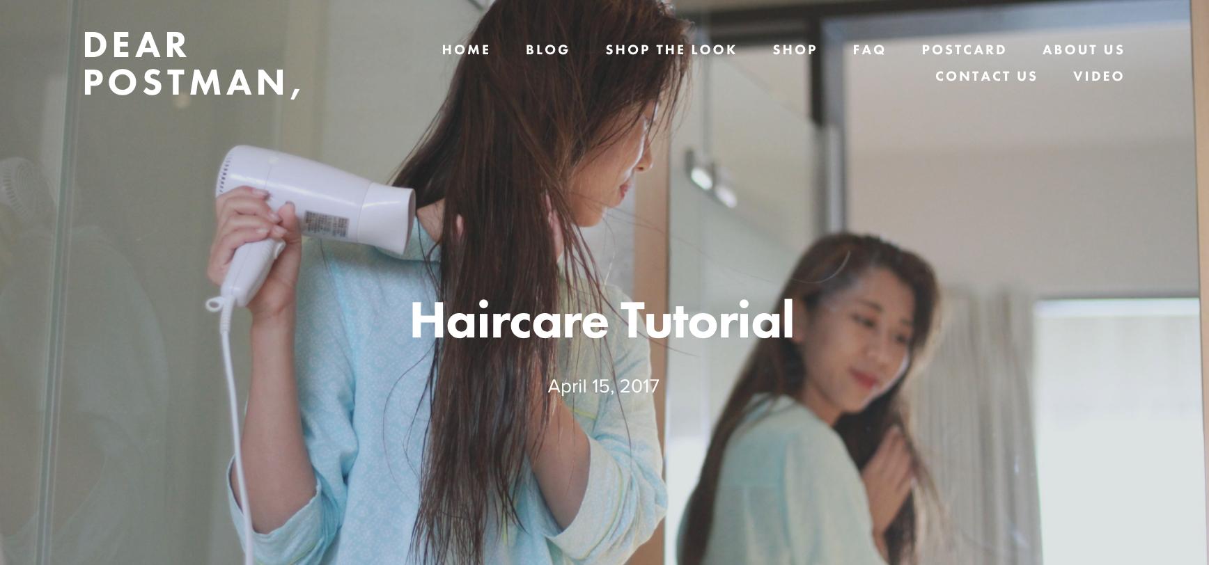 Haircare Tutorial