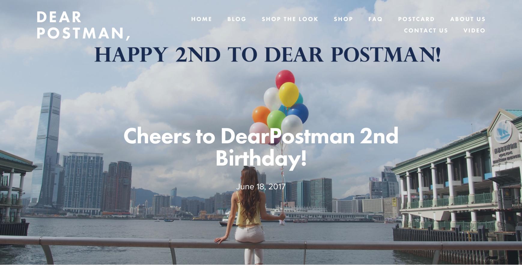 Cheers to DearPostman 2nd Birthday!
