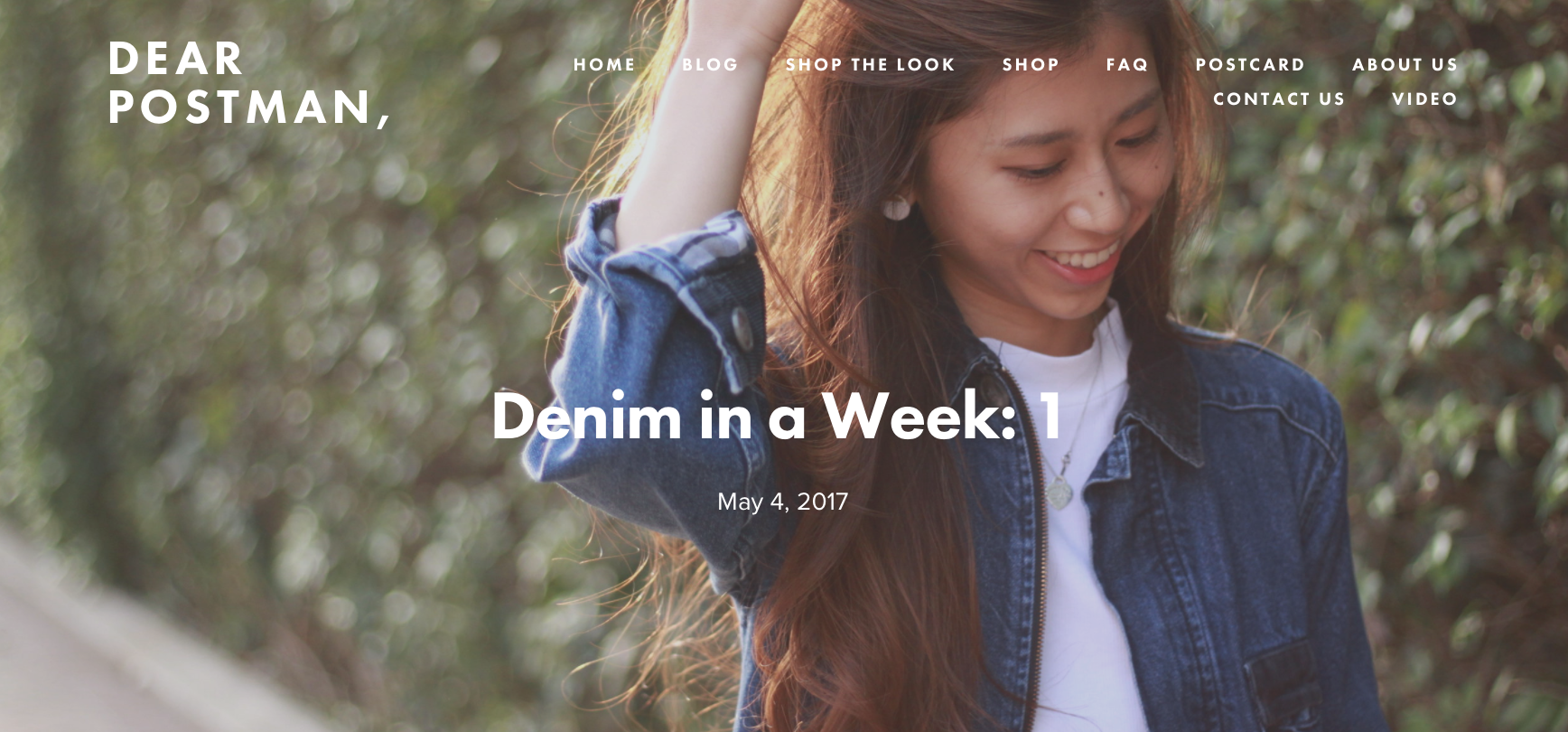 Denim in a Week: 1