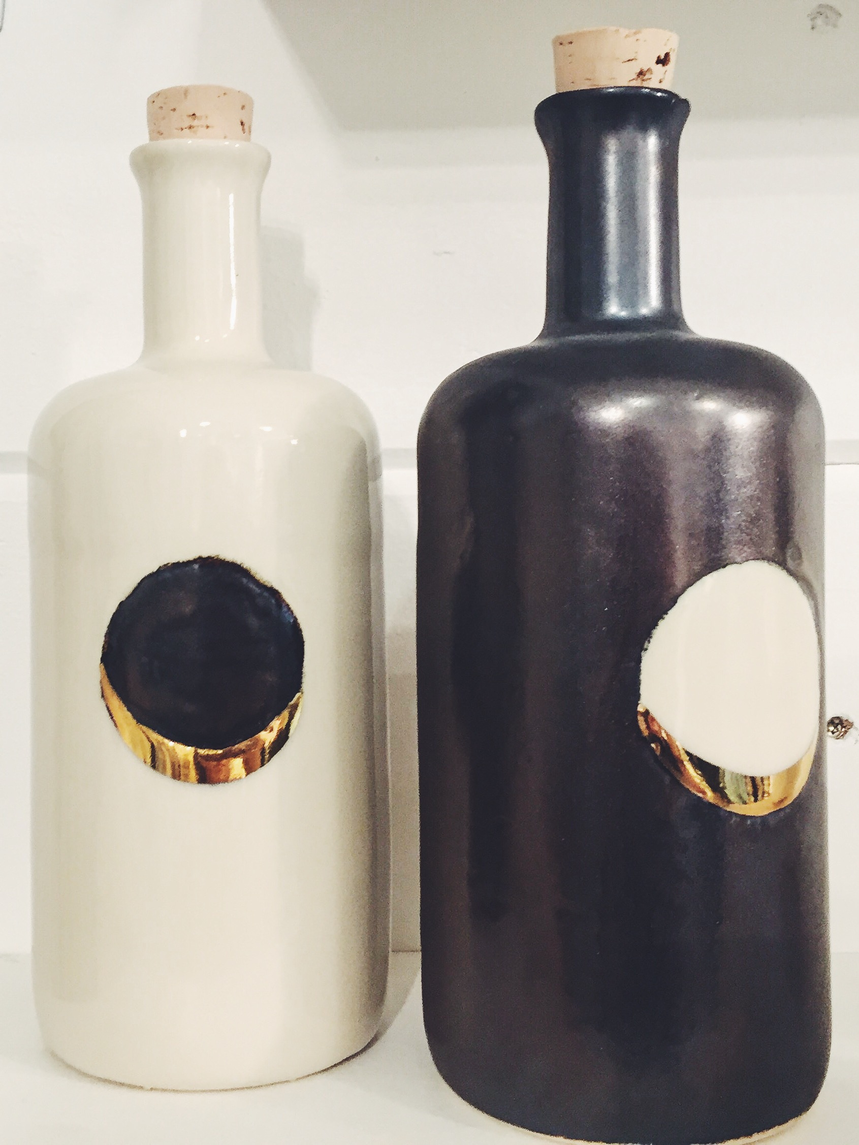 The Honeycomb Studio Waxing Moon Bottles