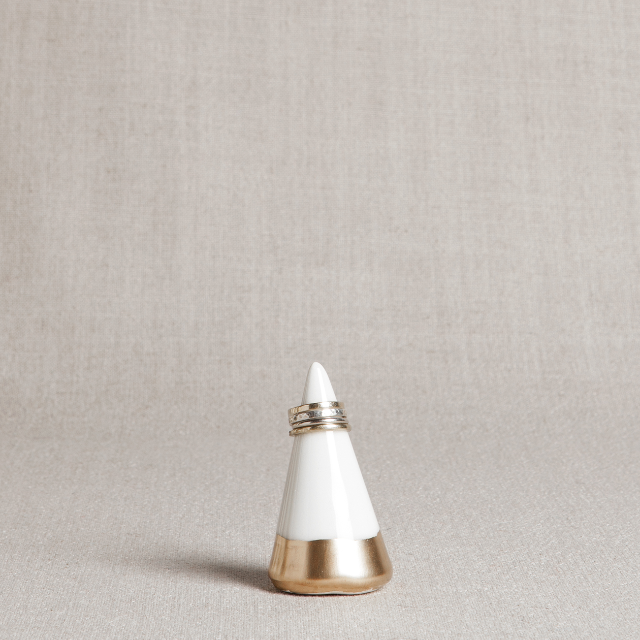 Honeycomb Studio Gold Ring Holder