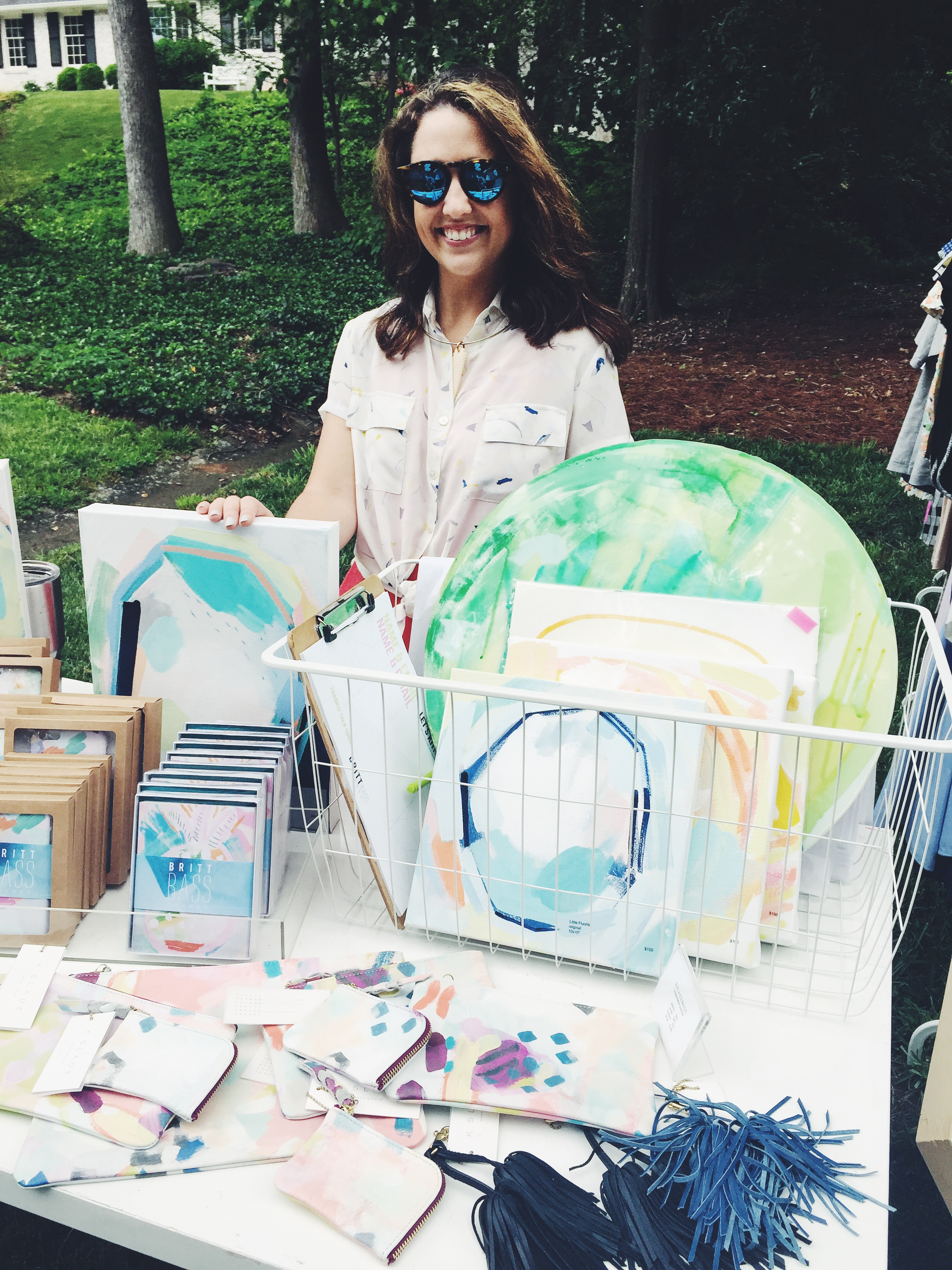 Britt Bass with Original Paintings and Gifts