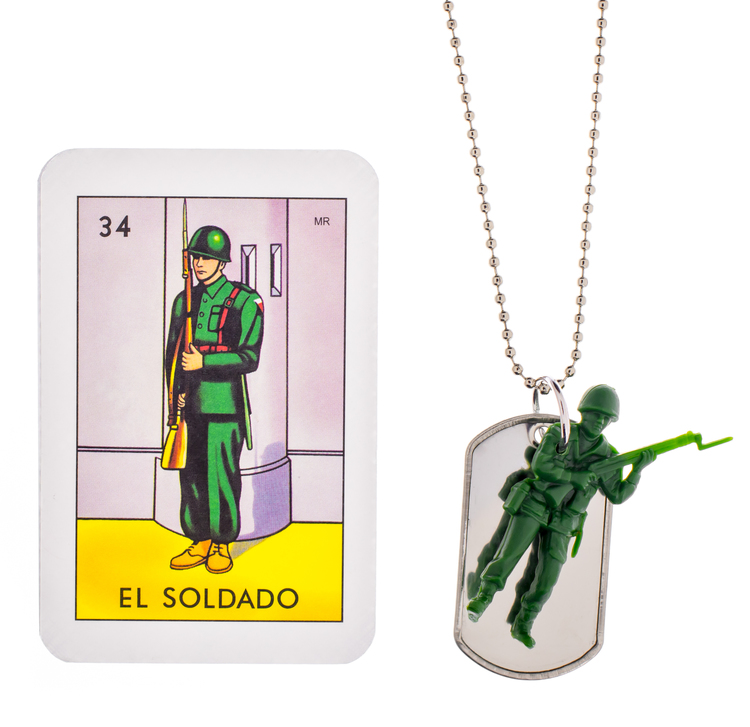 Soldier Necklace with ID Tag, Gunner & Lux