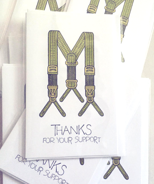 """Thanks For Your Support"", Breathless Paper Co."