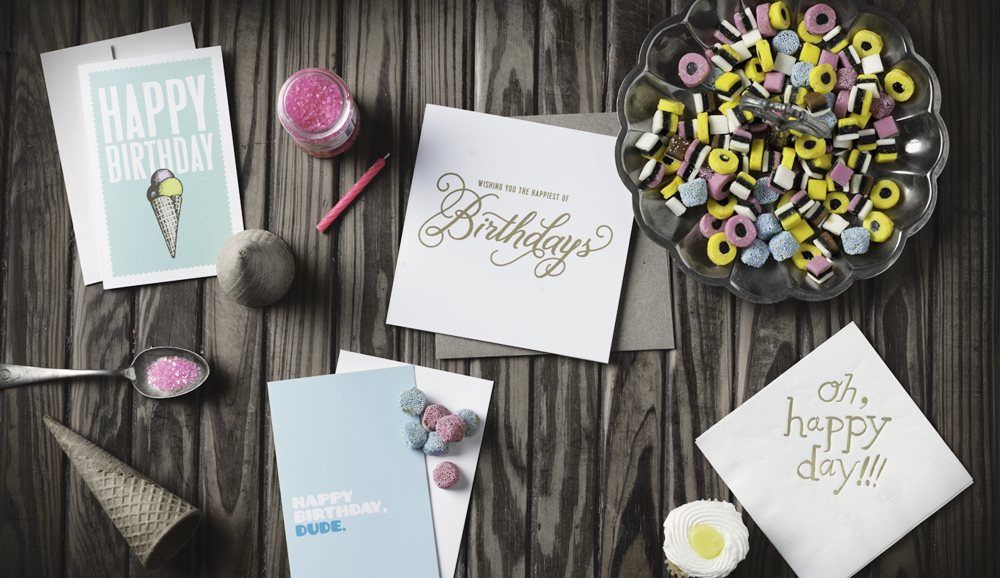 A wonderful example of incorporating everyday objects and compliments to your products, by  Breathless Paper Co .